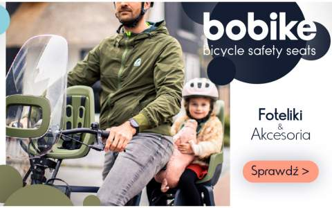 Bobike - foteliki rowerowe z osłonami