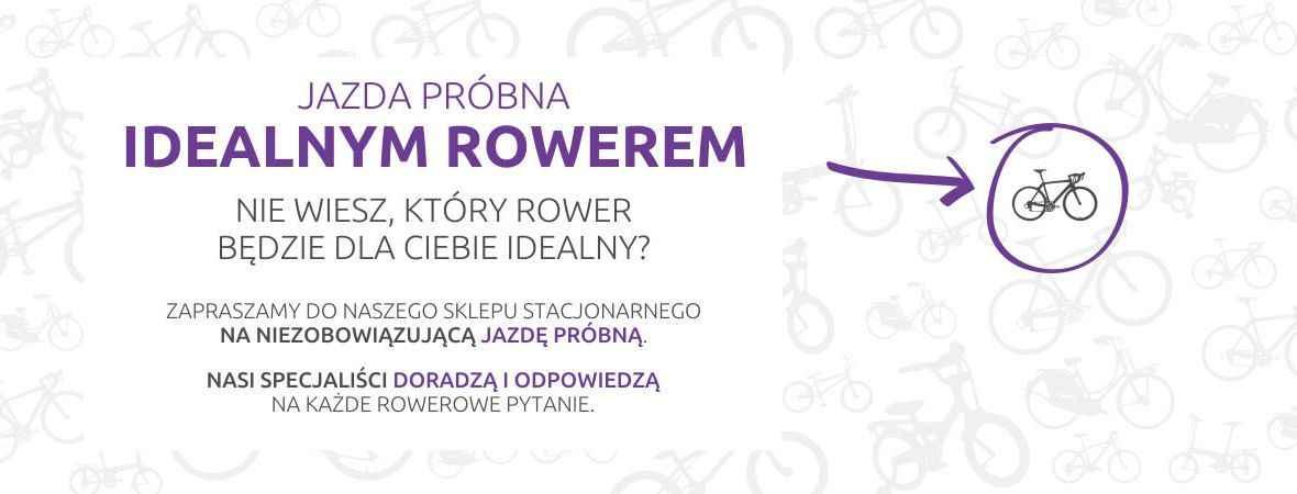 Wybierz najlepszy rower - w naszym stacjonarnym sklepie rowerowym oferujemy niezobowiązującą  jazdę próbną!