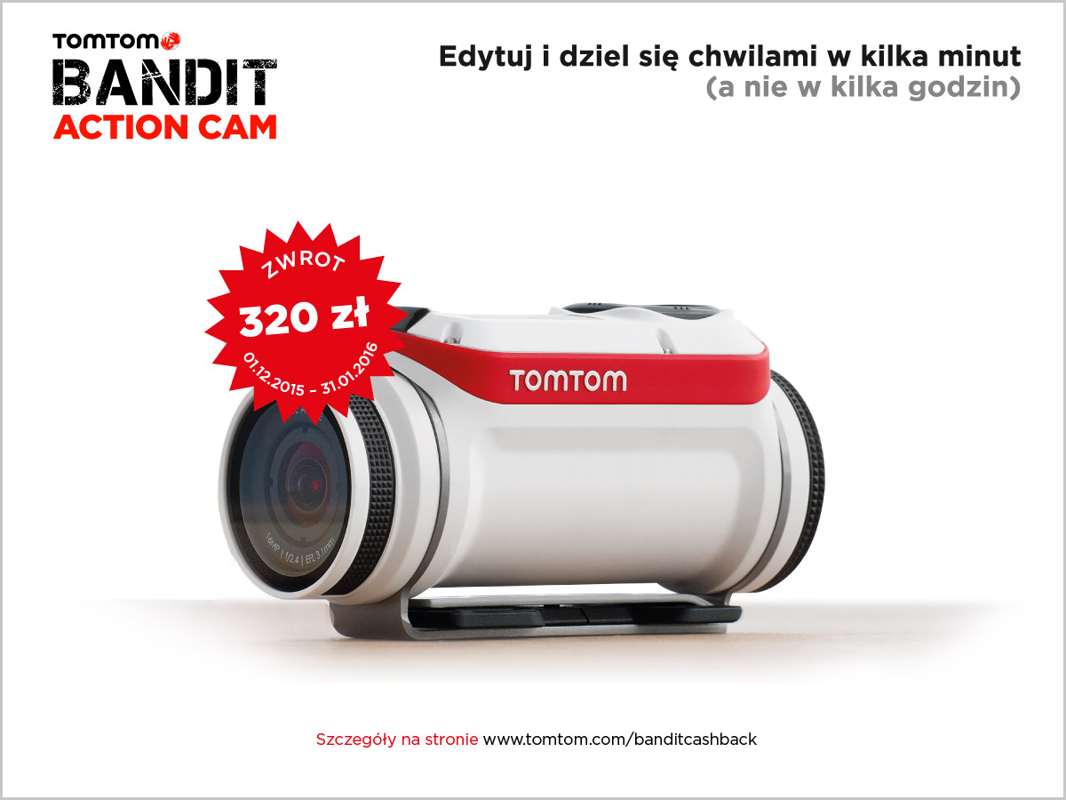 Promocja Tomtom: kup kamerę Bandit i zgarnij 320 zł!