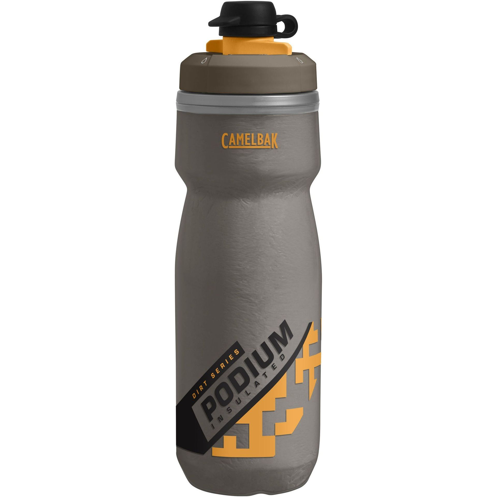 BIDON ROWEROWY CAMELBAK PODIUM DIRT SERIES CHILL 21OZ SHADOW GREY|SULPHUR