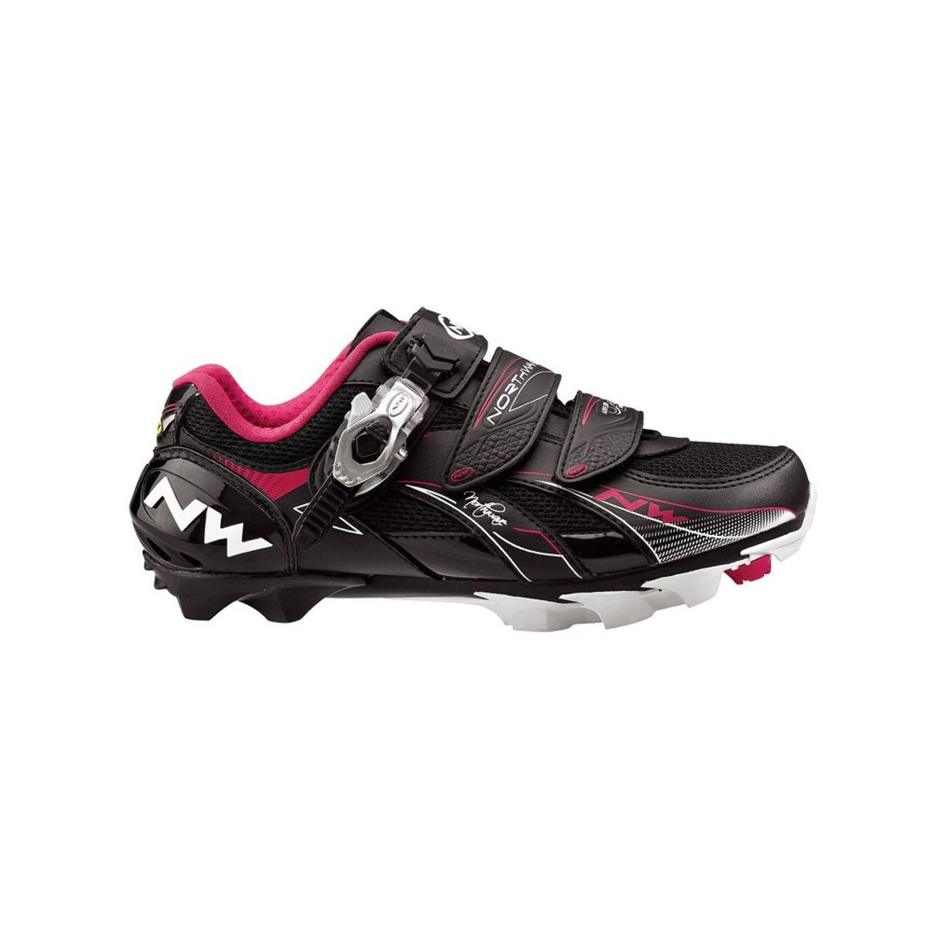 Buty rowerowe Northwave Vega  czarno różowe