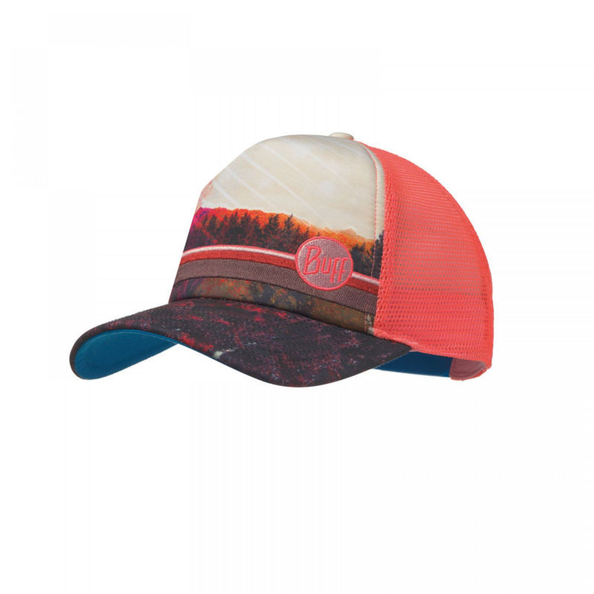 CZAPKA Z DASZKIEM BUFF  TRUCKER COLLAGE MULTI PINK