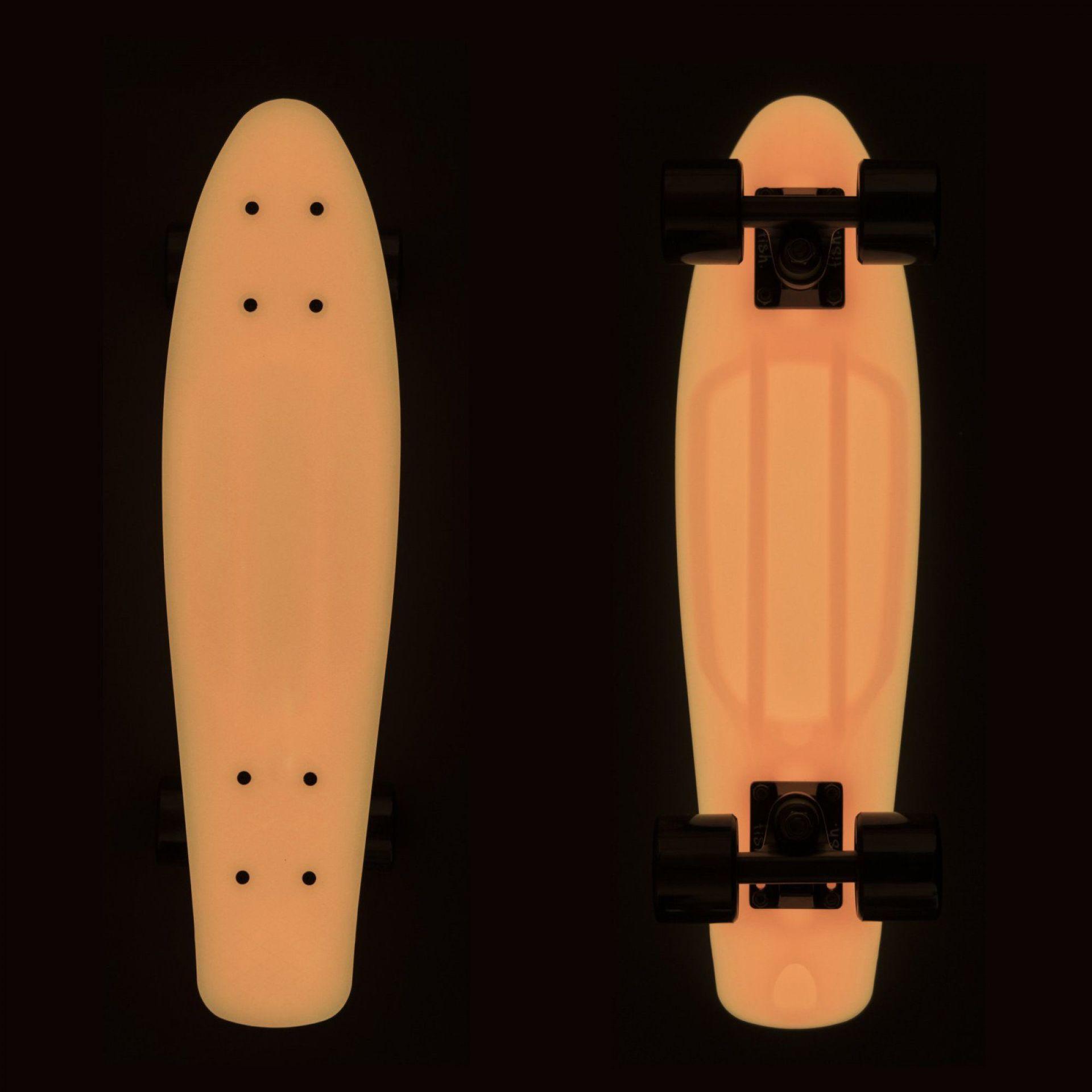 FISHBOARD FISH SKATEBOARDS CLASSIC GLOW ORANGE|BLACK 3