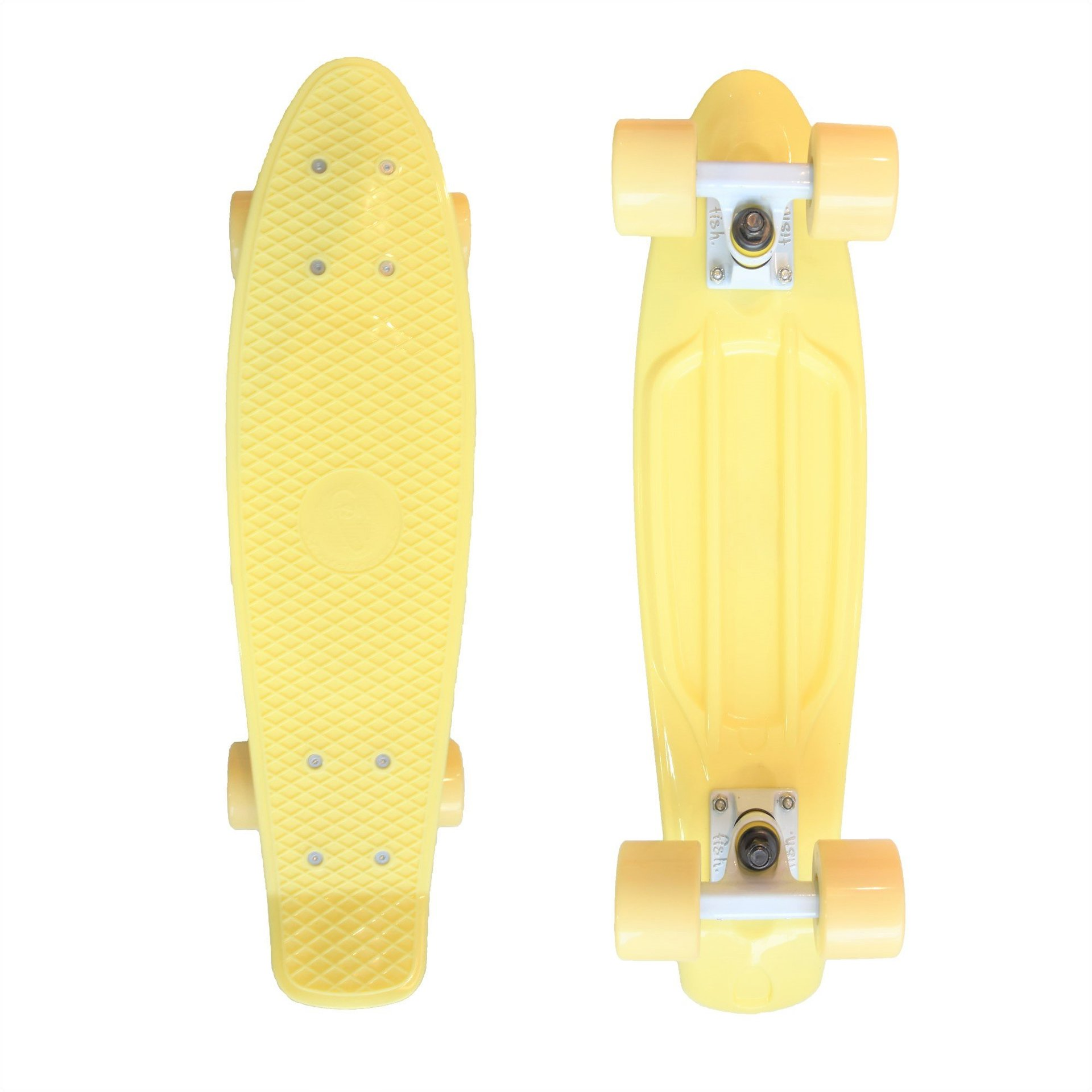 FISHBOARD FISH SKATEBOARDS CLASSIC SUMMER YELLOW|WHITE|WHITE 1
