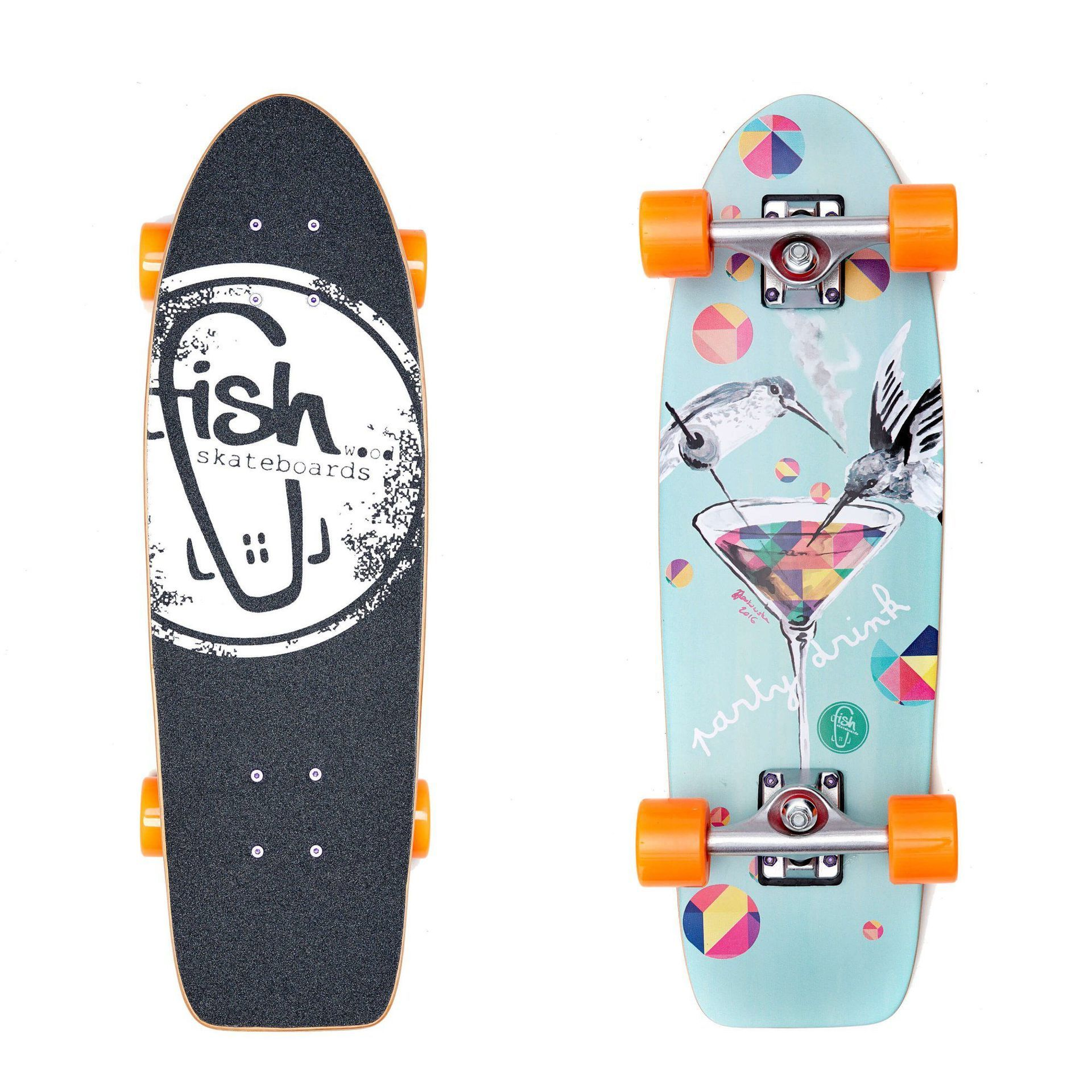FISHBOARD FISH SKATEBOARDS CRUISER 26 PARTY|SILVER|ORANGE 1