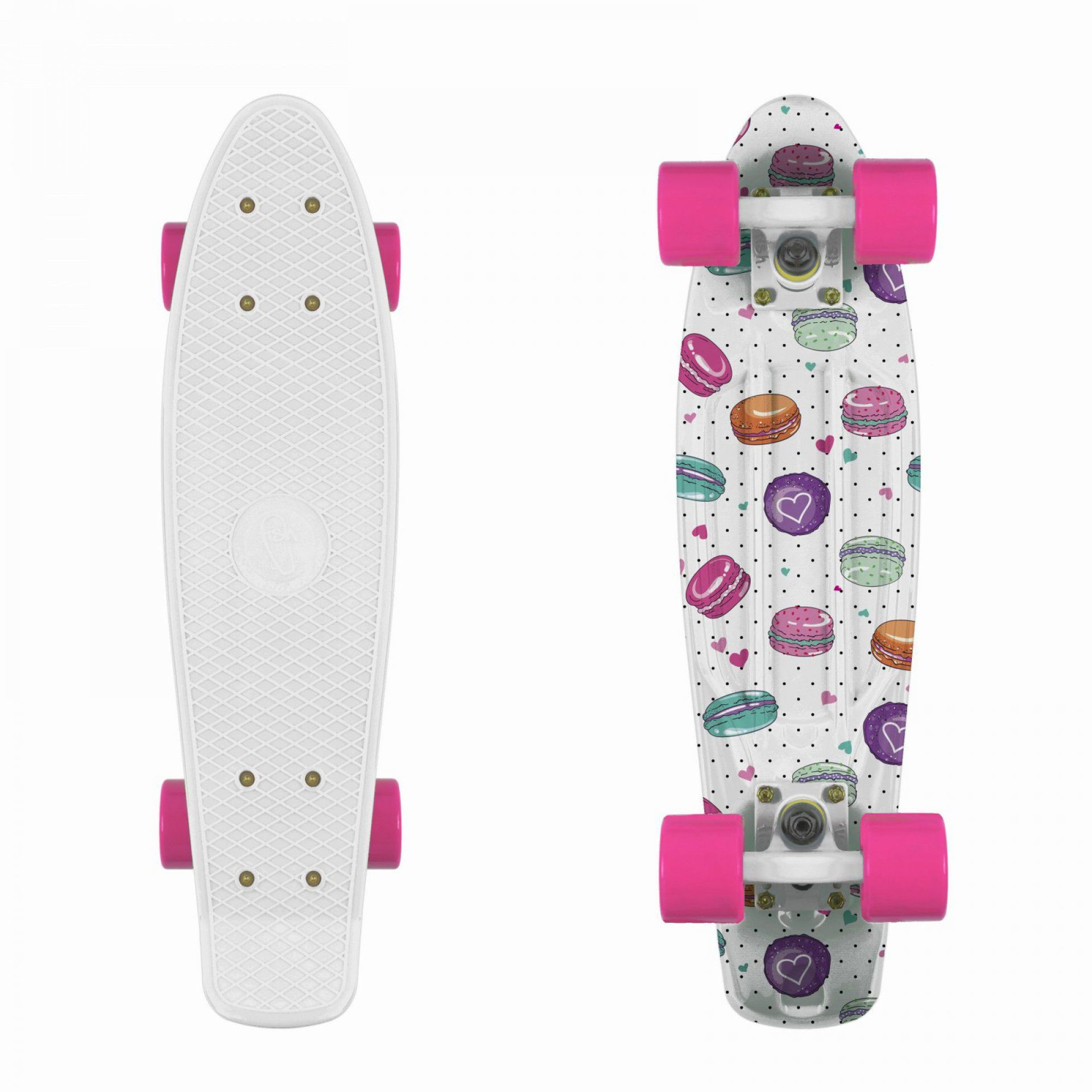 FISHBOARD FISH SKATEBOARDS PRINT MACARONS|WHITE|PINK