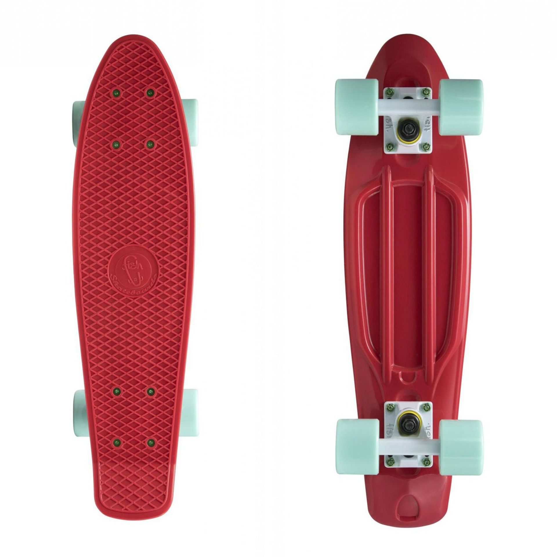 FISHBOARD FISH SKATEBOARDS RED|WHITE|SUMMER GREEN 1