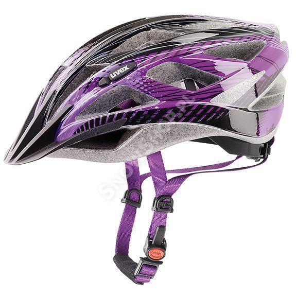 Kask rowerowy Uvex Xenova czarny fioletowy