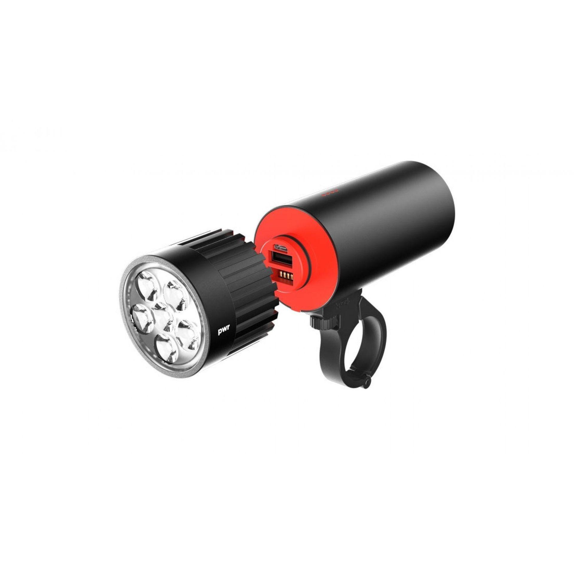 GŁOWICA LAMPKI ROWEROWEJ KNOG PWR LIGHTHEAD 2000L BLACK 1