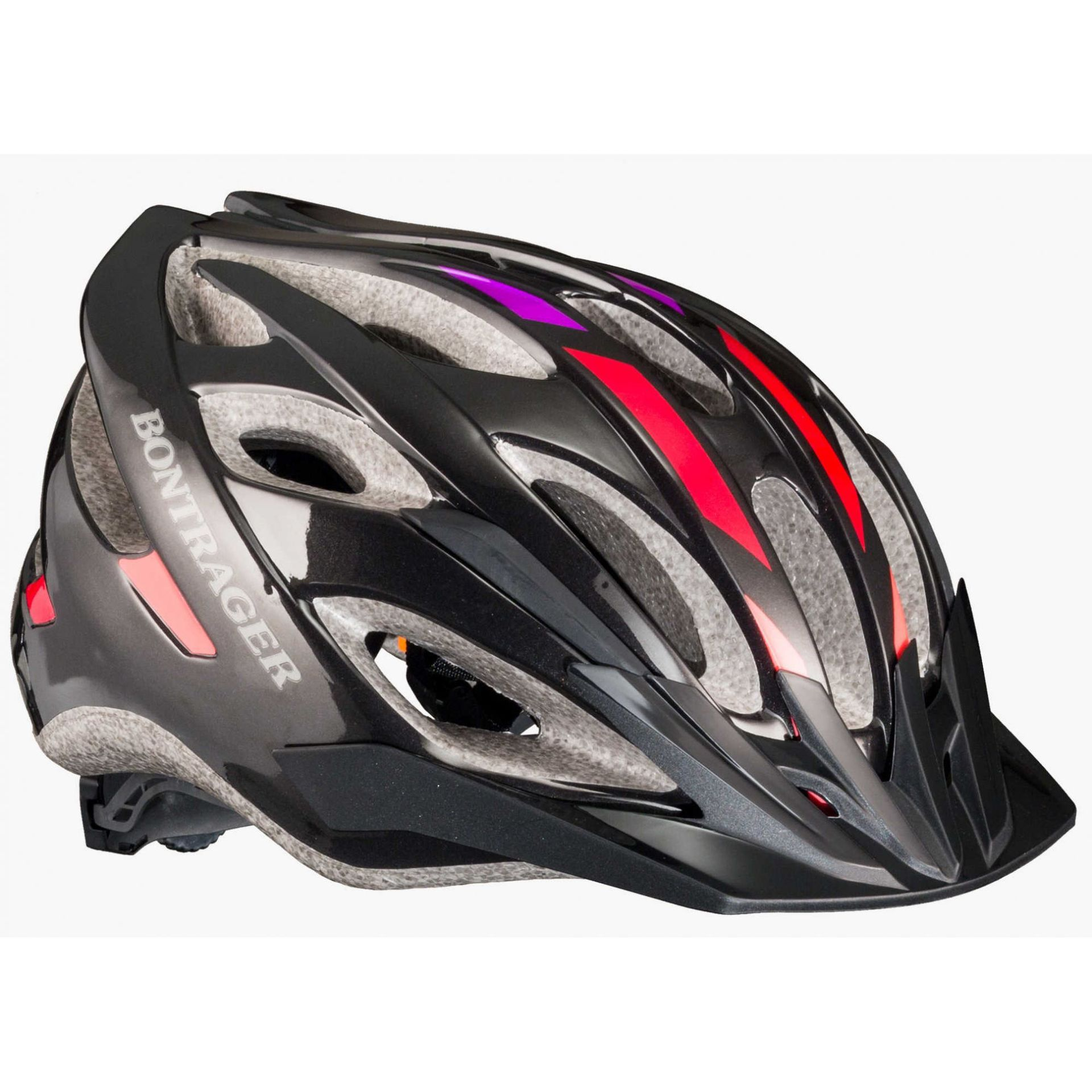 KASK BONTRAGER BLACK RED GRAPE