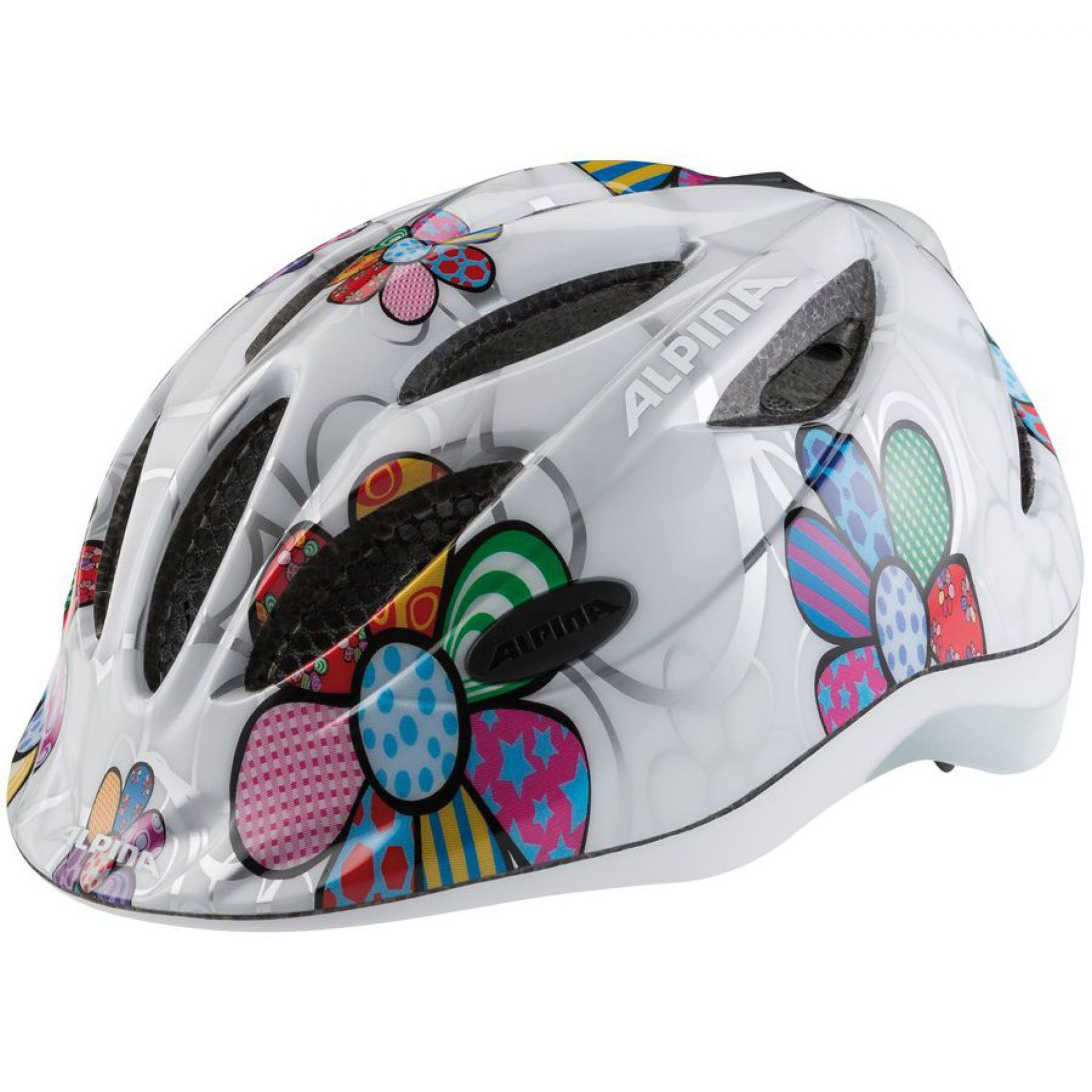 KASK ROWEROWY ALPINA GAMMA FLASH 2.0 white flower
