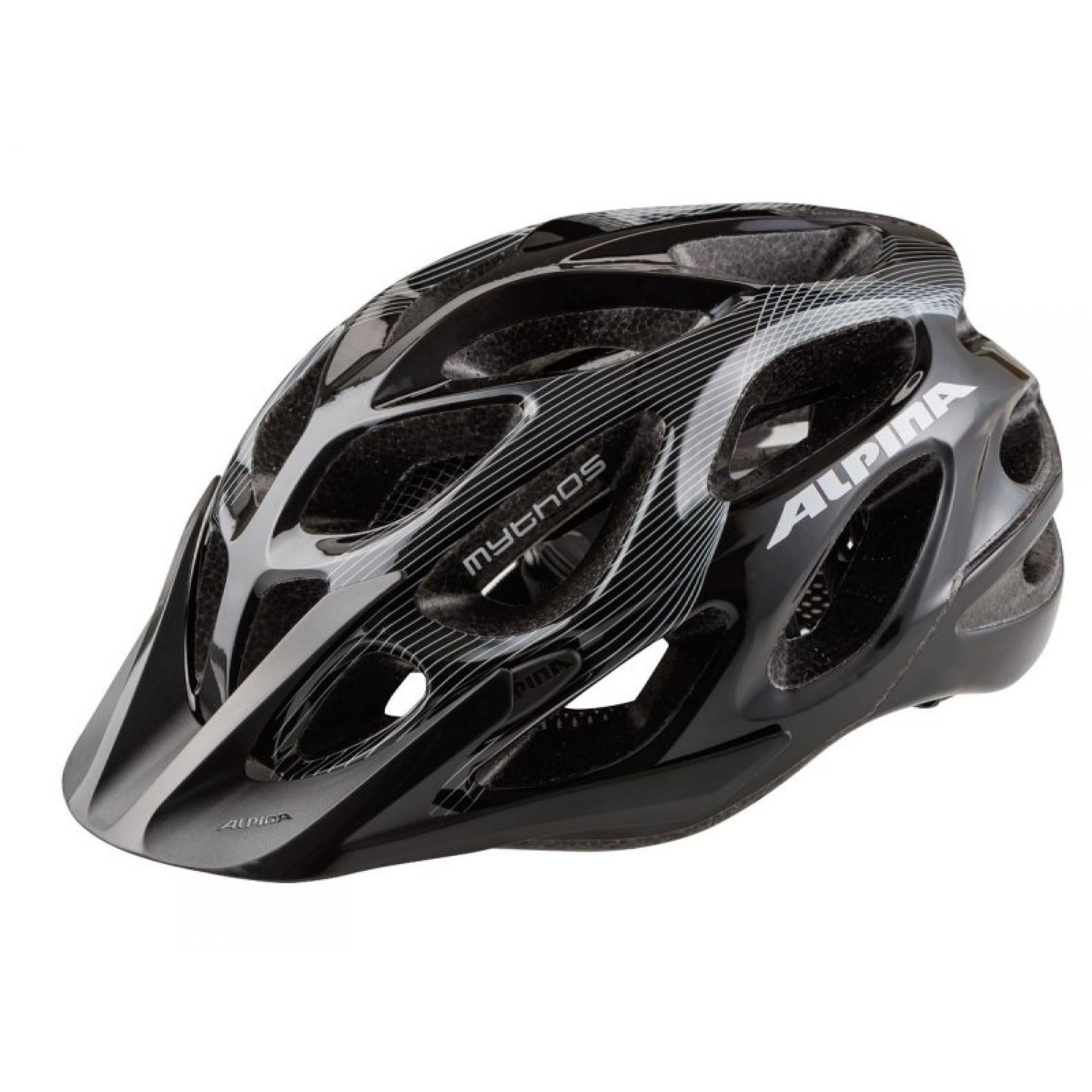 KASK ROWEROWY ALPINA MYTHOS 2.0 black-white lines