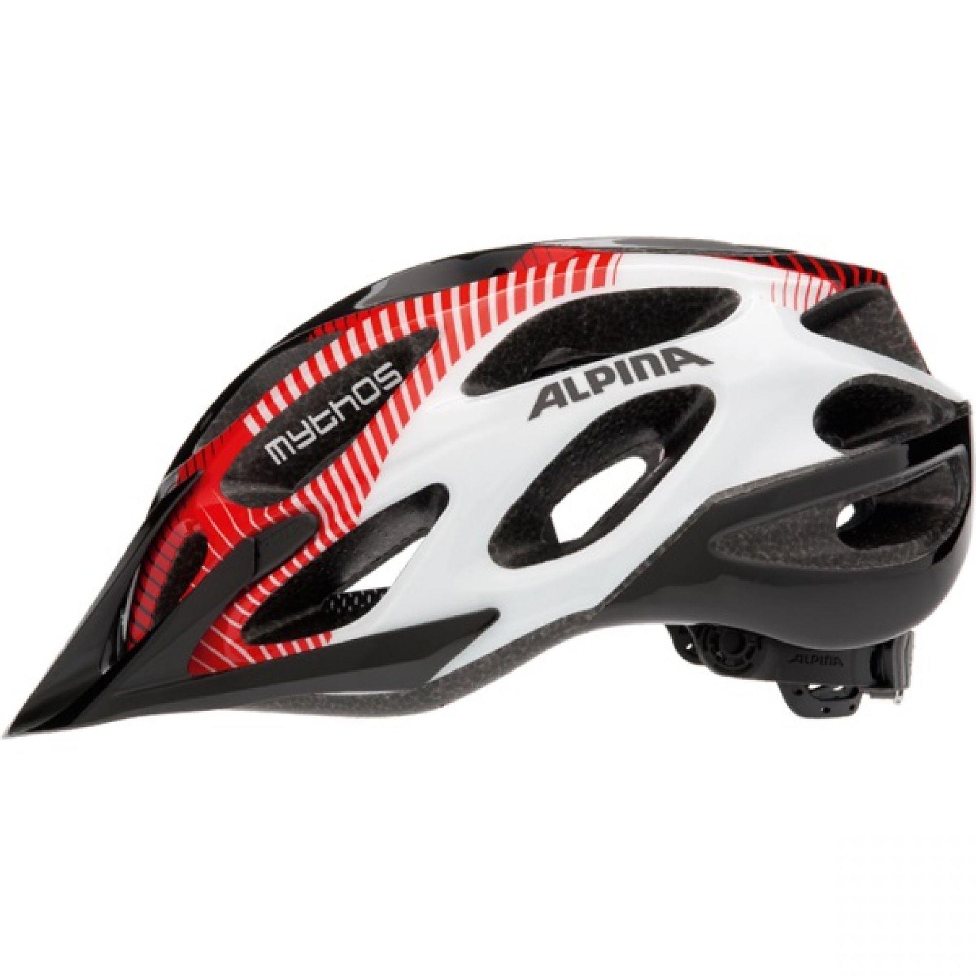 Kask rowerowy Alpina Mythos 2,0 biało czarno czerwony