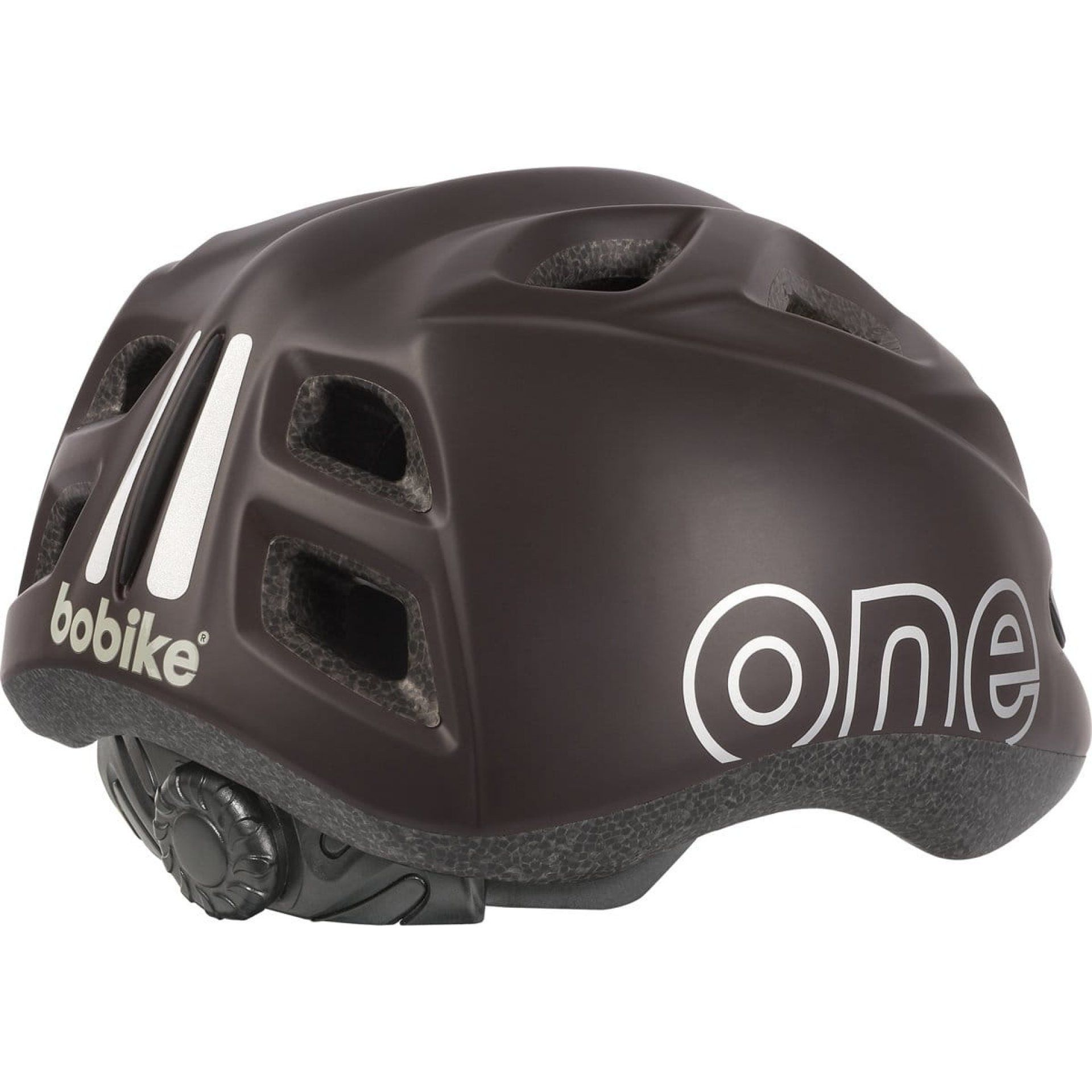 KASK ROWEROWY BOBIKE ONE PLUS COFFEE BROWN TYŁ