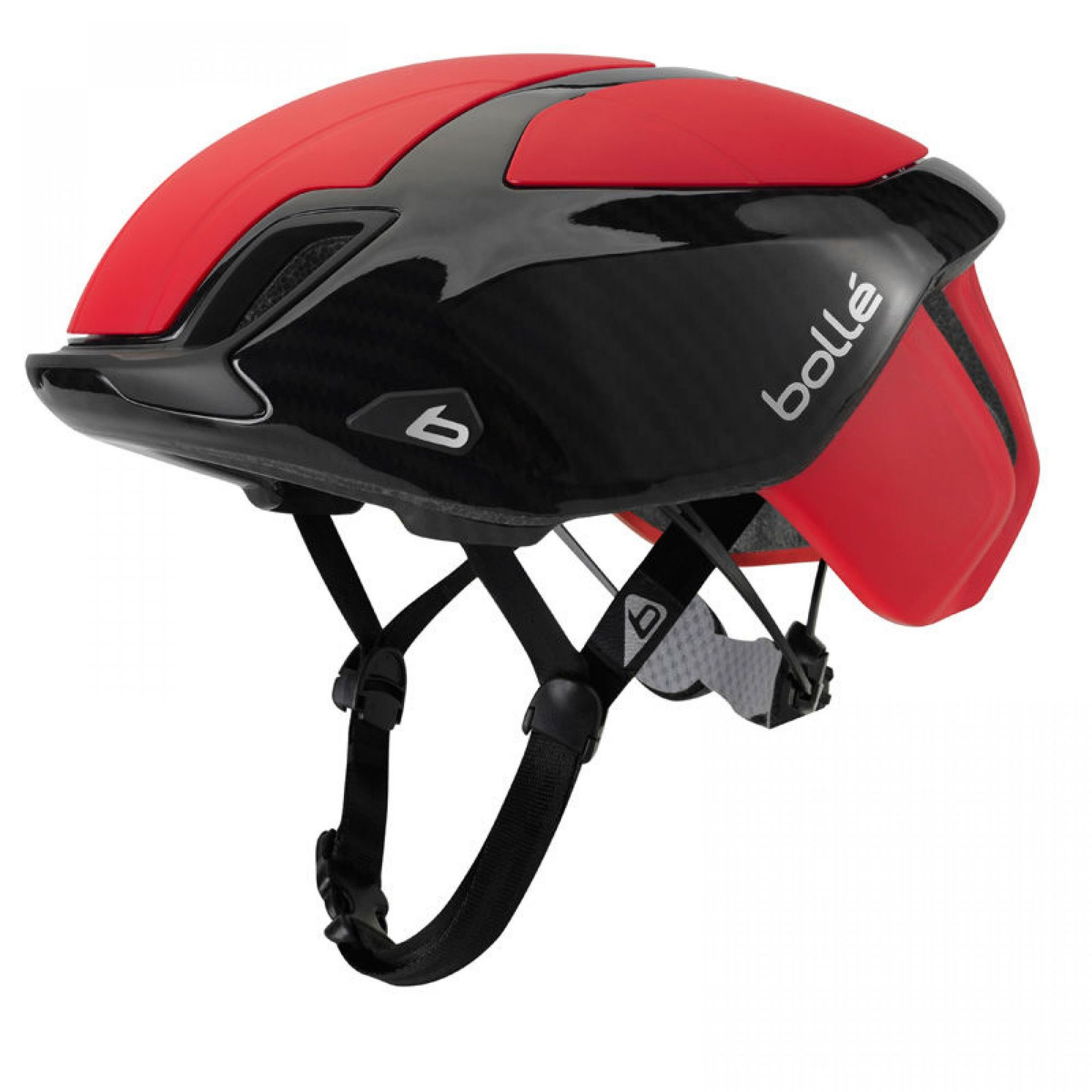 KASK ROWEROWY BOLLE THE ONE ROAD PREMIUM RED CARBON