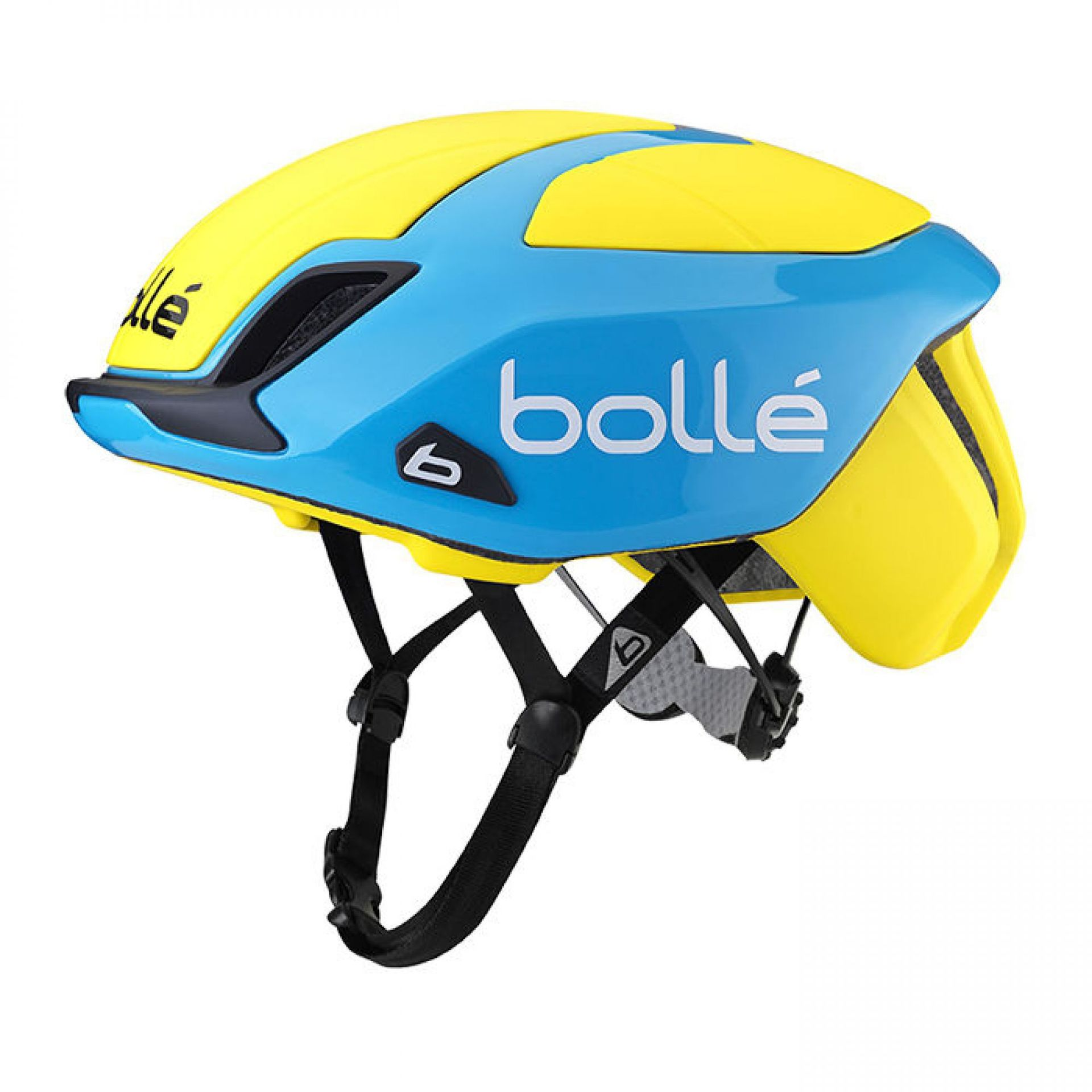 KASK ROWEROWY BOLLE THE ONE ROAD PREMIUM YELLOW BLUE