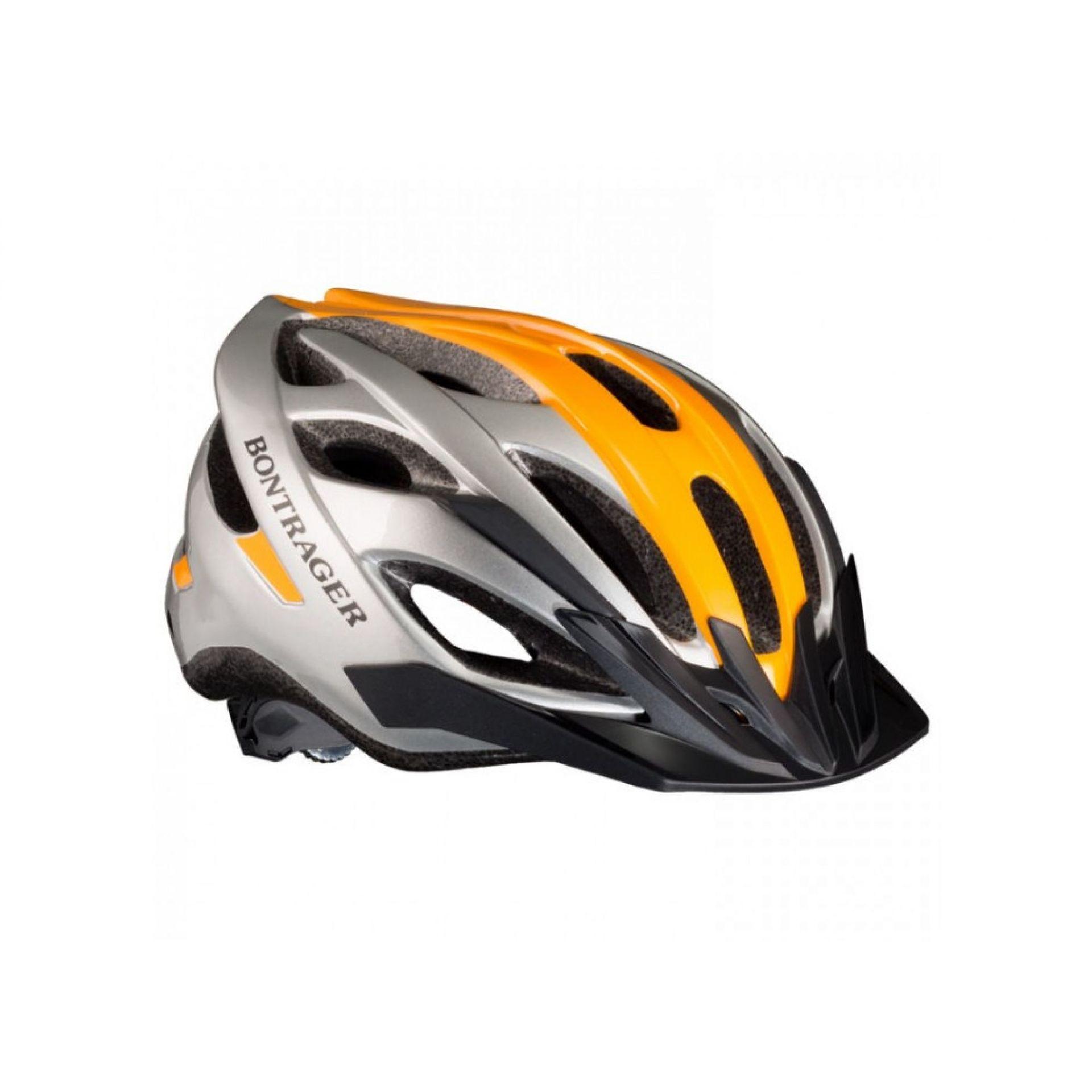 Kask rowerowy Bontrager Solstice srebrno pomarańczowy