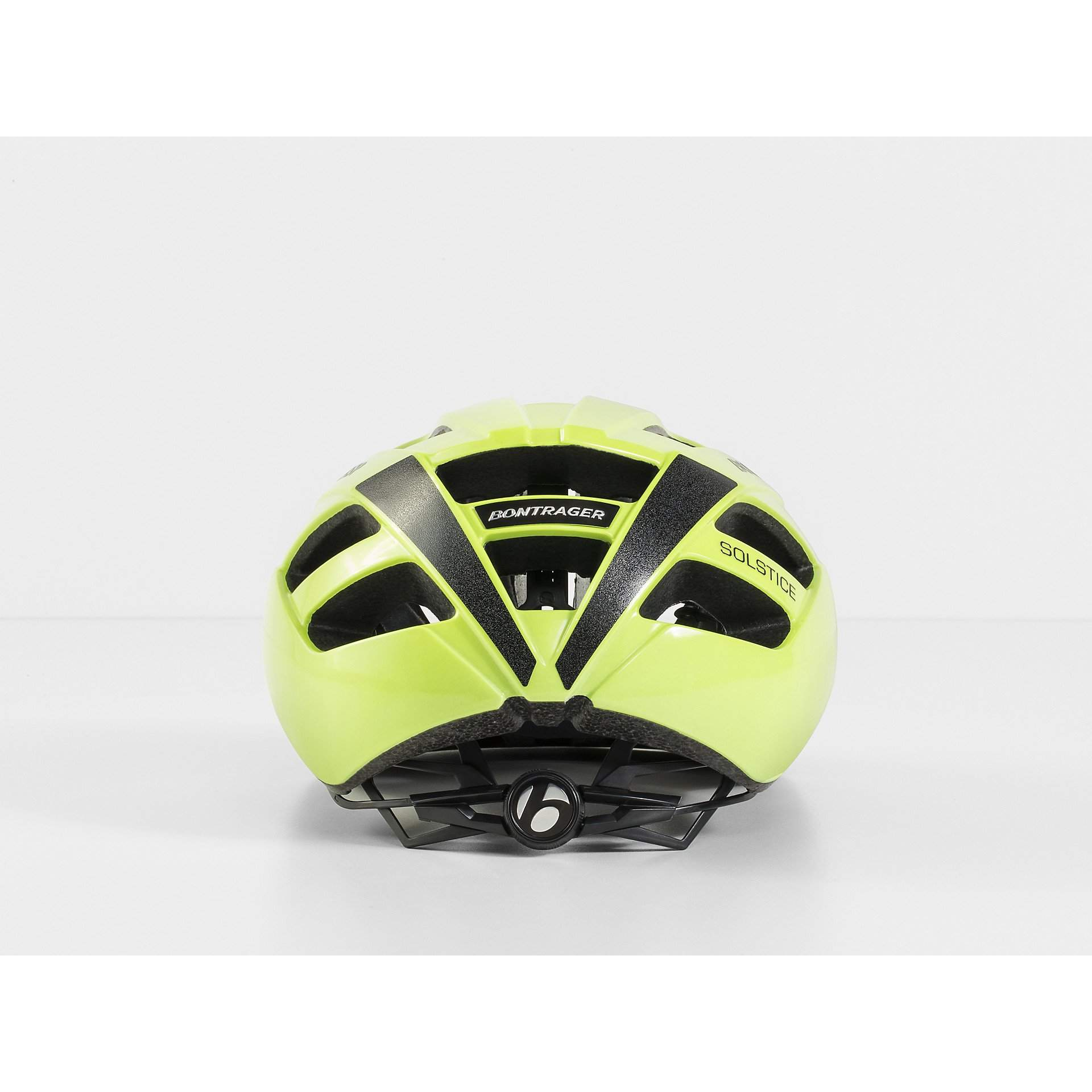 KASK ROWEROWY BONTRAGER SOLSTICE VISIBLE YELLOW Z TYŁU