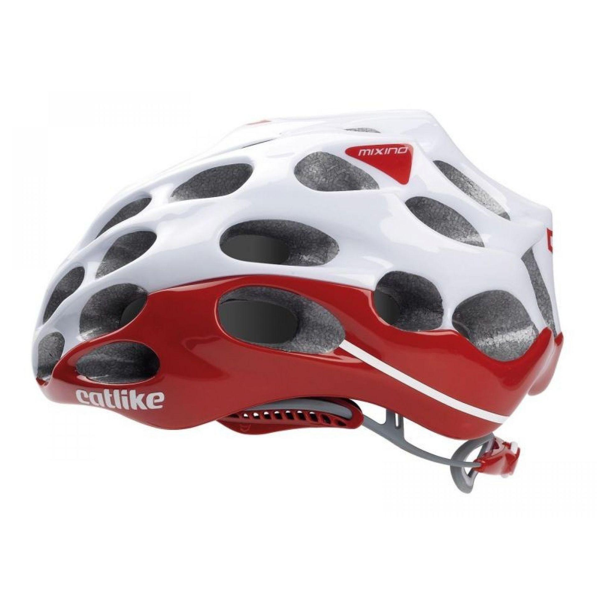 Kask rowerowy Catlike Mixino biało czerwony