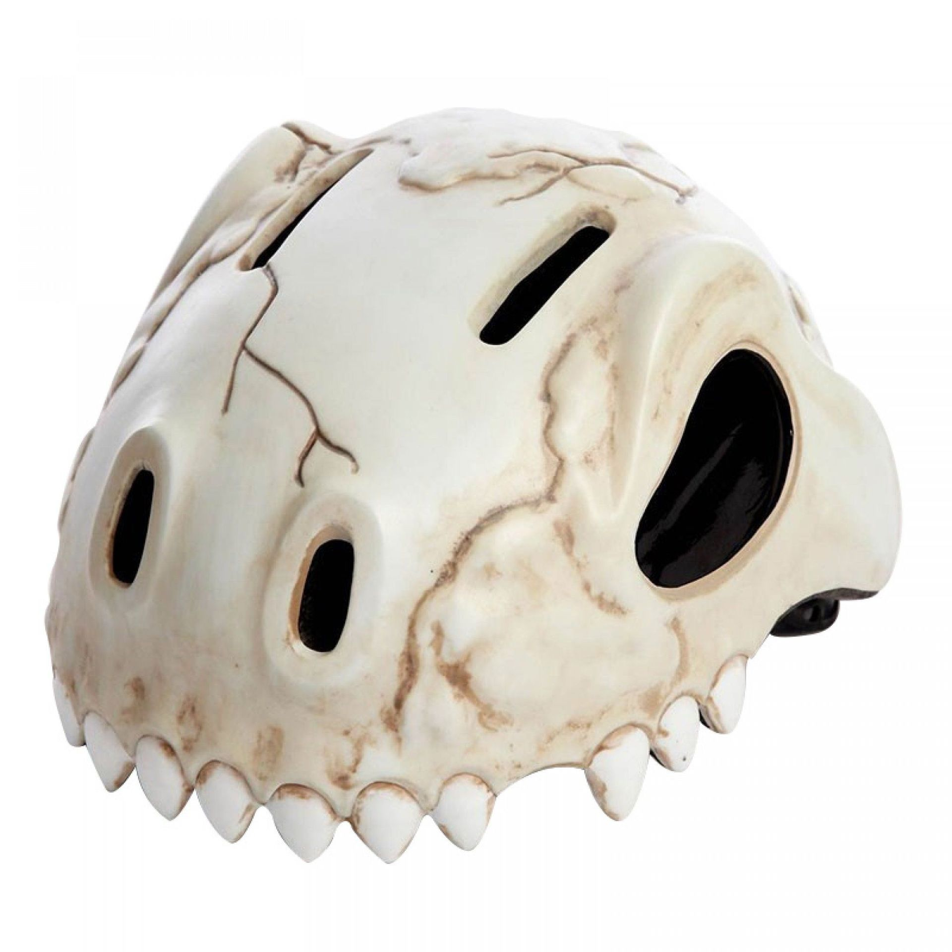KASK ROWEROWY CRAZY SAFETY SKULL MUD