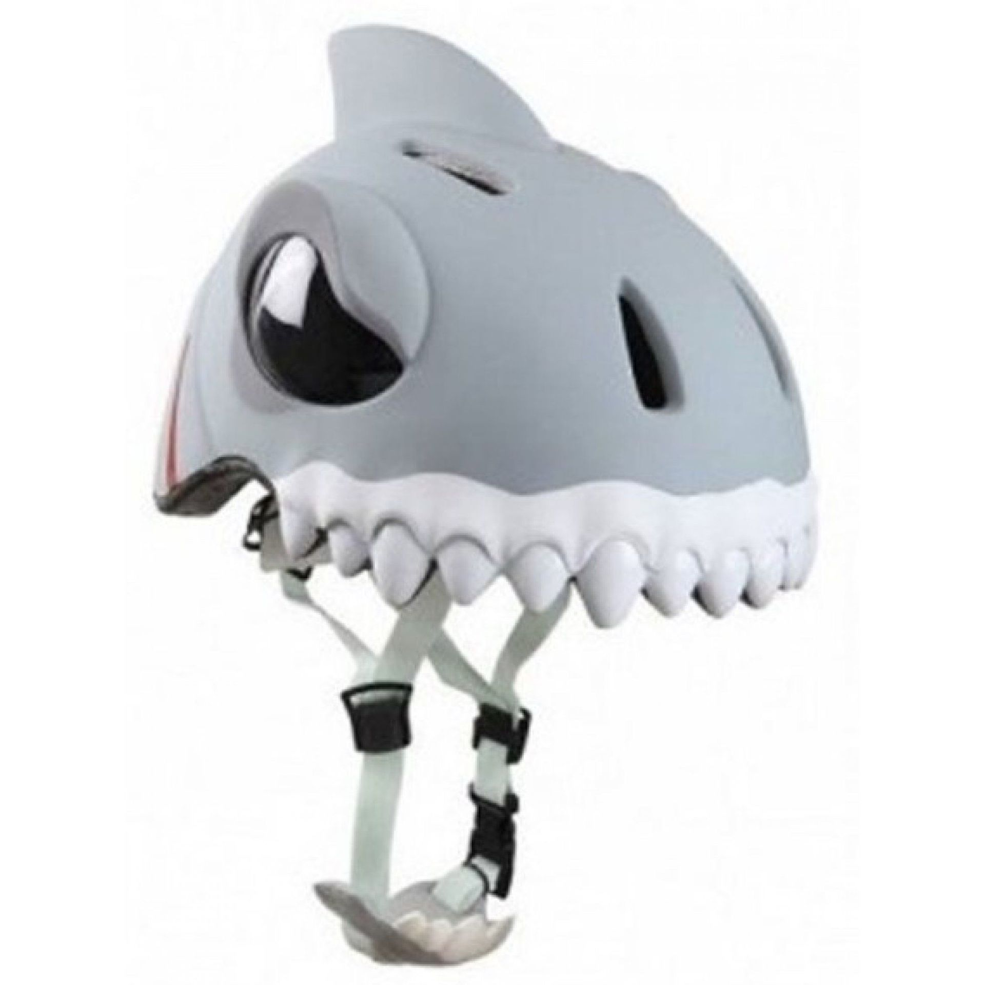 KASK ROWEROWY CRAZY SAFETY WHITE SHARK