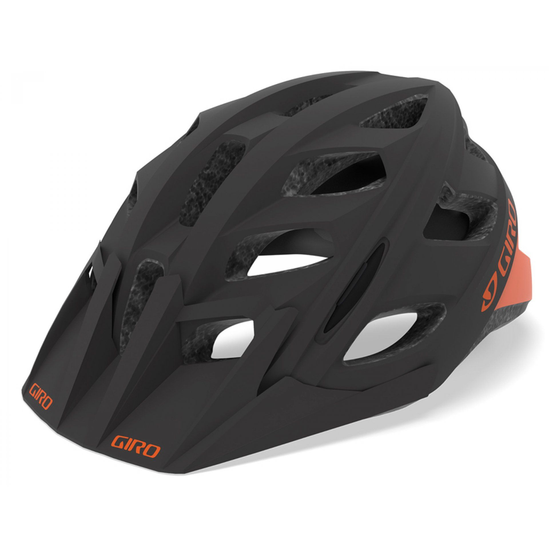 KASK ROWEROWY GIRO HEX MATTE WARM BLACK DEEP ORANGE
