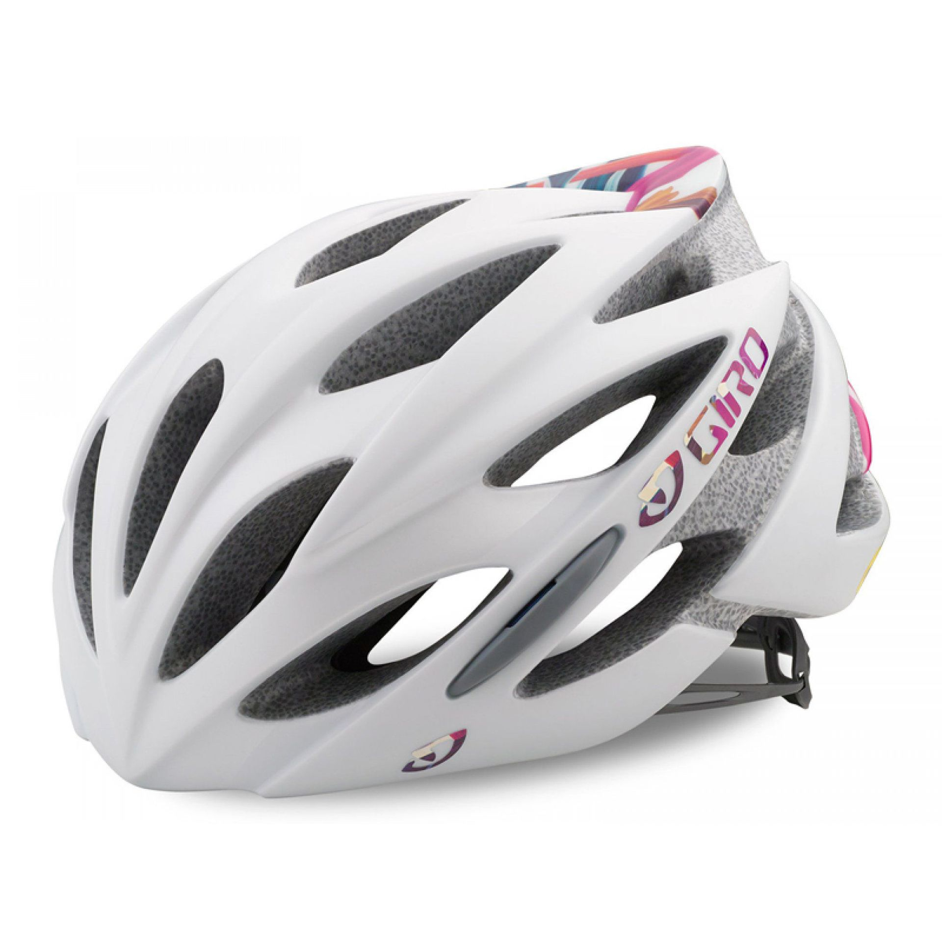 KASK ROWEROWY GIRO SONNET MATTE WHITE FLORAL 1