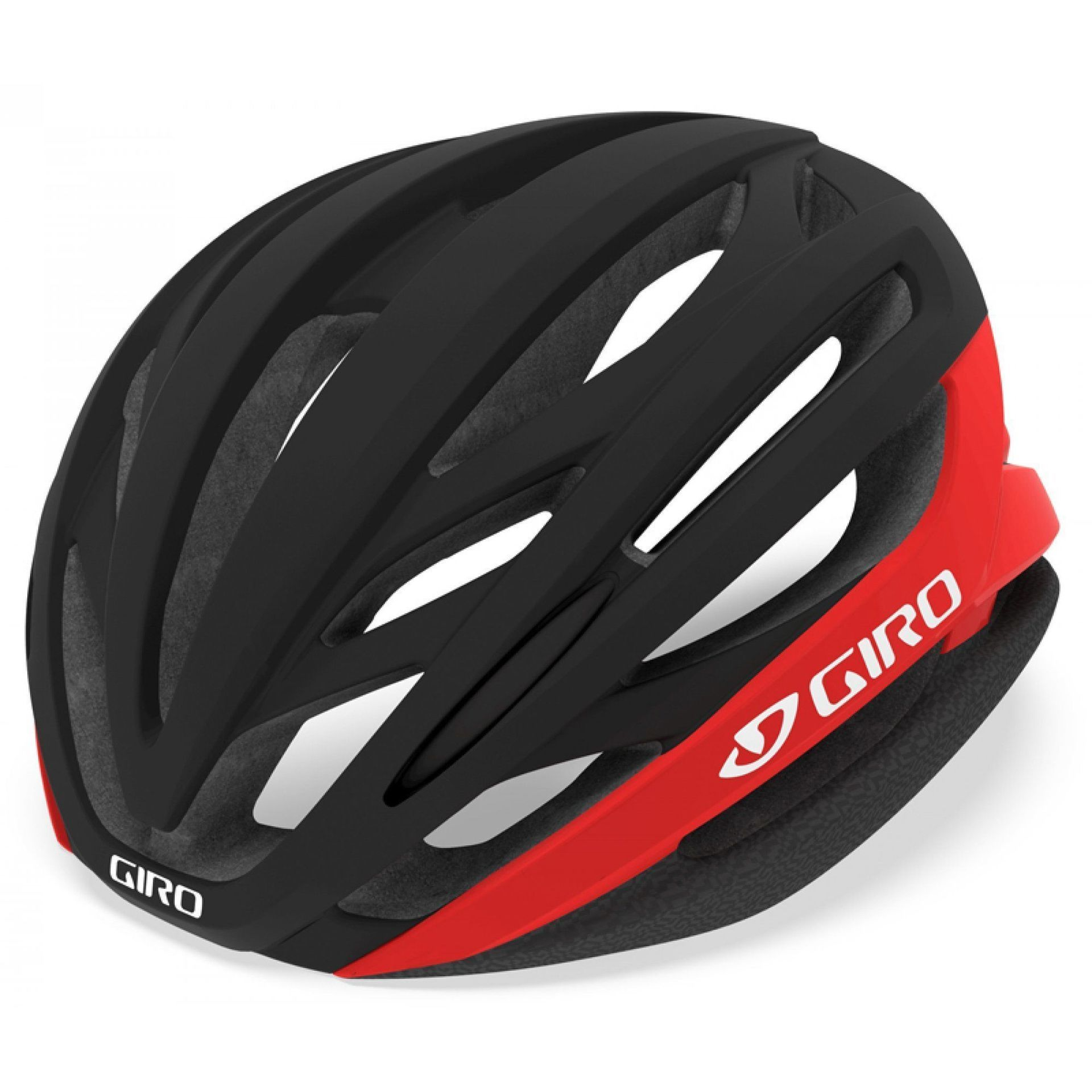 KASK ROWEROWY GIRO SYNTAX MIPS MATTE BLACK BRIGHT RED 1