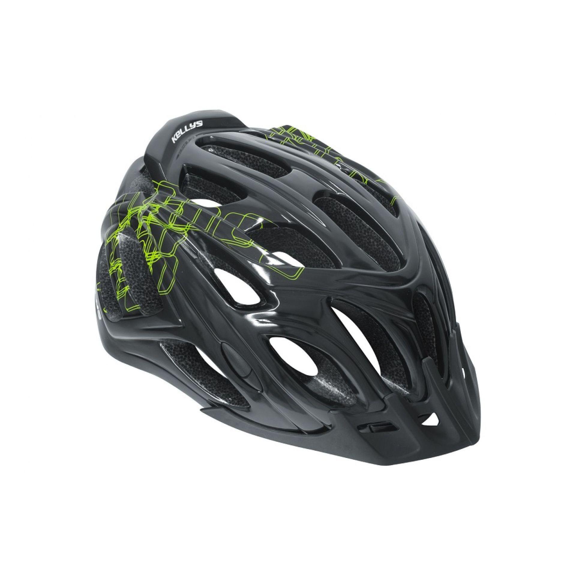 Kask rowerowy Kellys Dare czarny|zielony