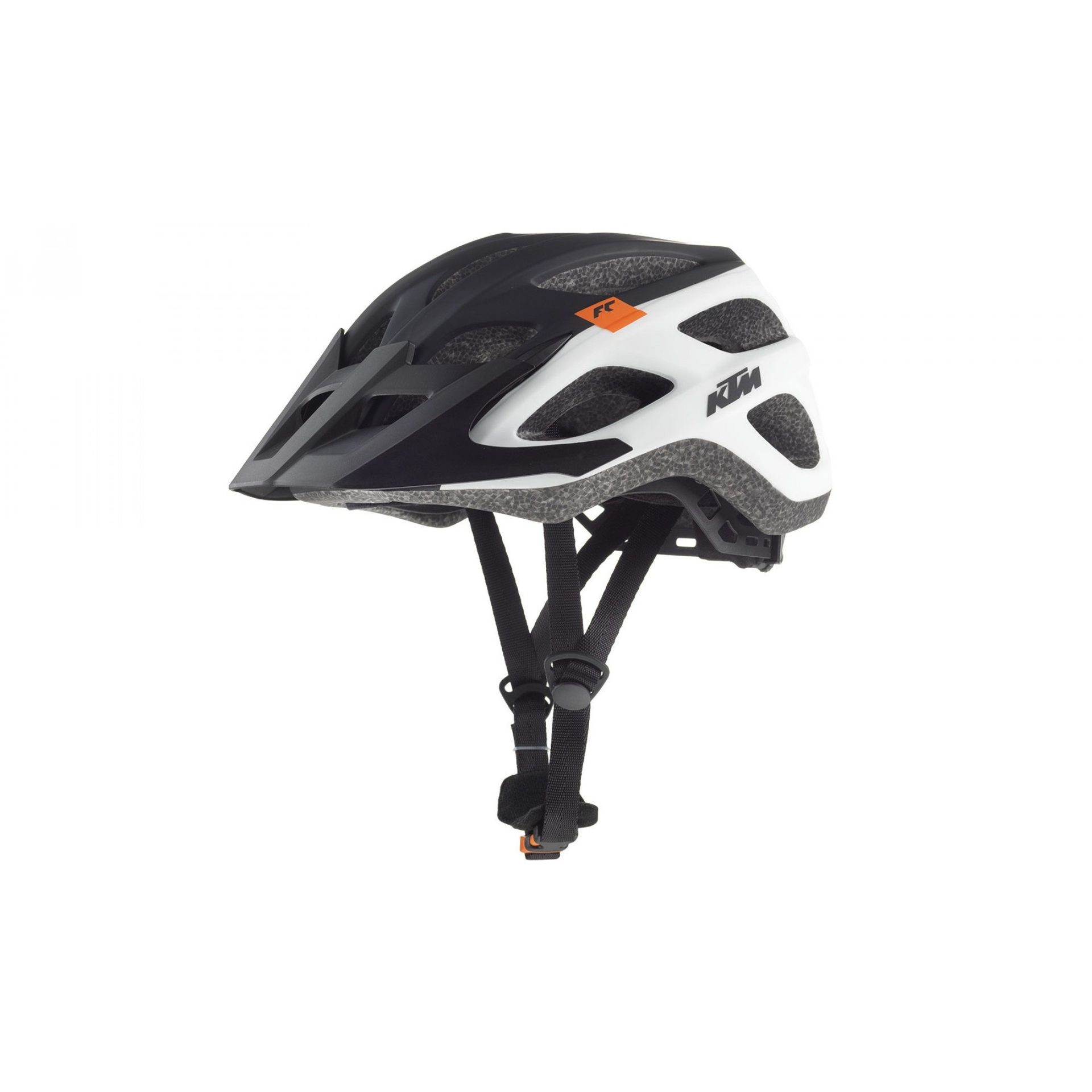 KASK ROWEROWY KTM FACTORY CHARACTER BLACK|WHITE
