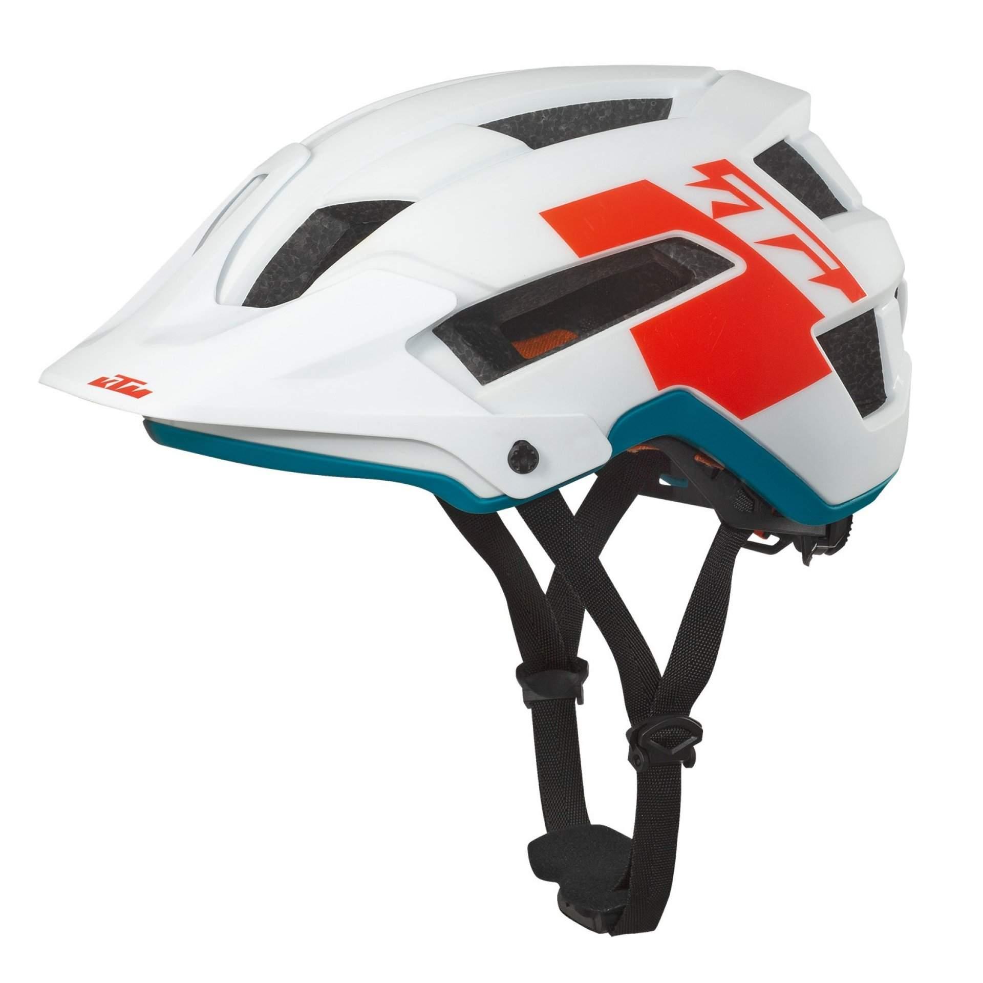 KASK ROWEROWY KTM FACTORY ENDURO 6731641 WHITE MATT|FIRE ORANGE