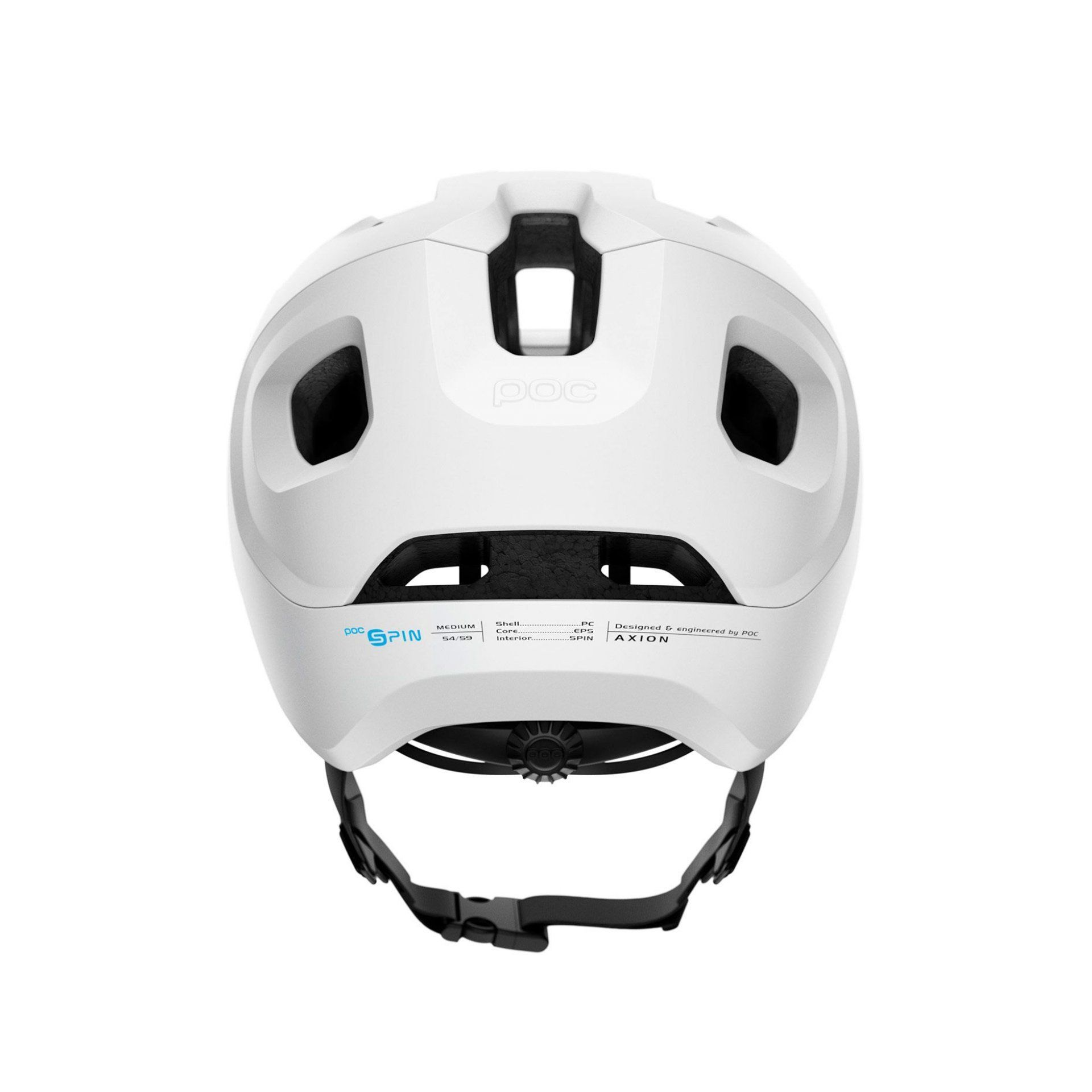 KASK ROWEROWY POC AXION SPIN MATT WHITE 4
