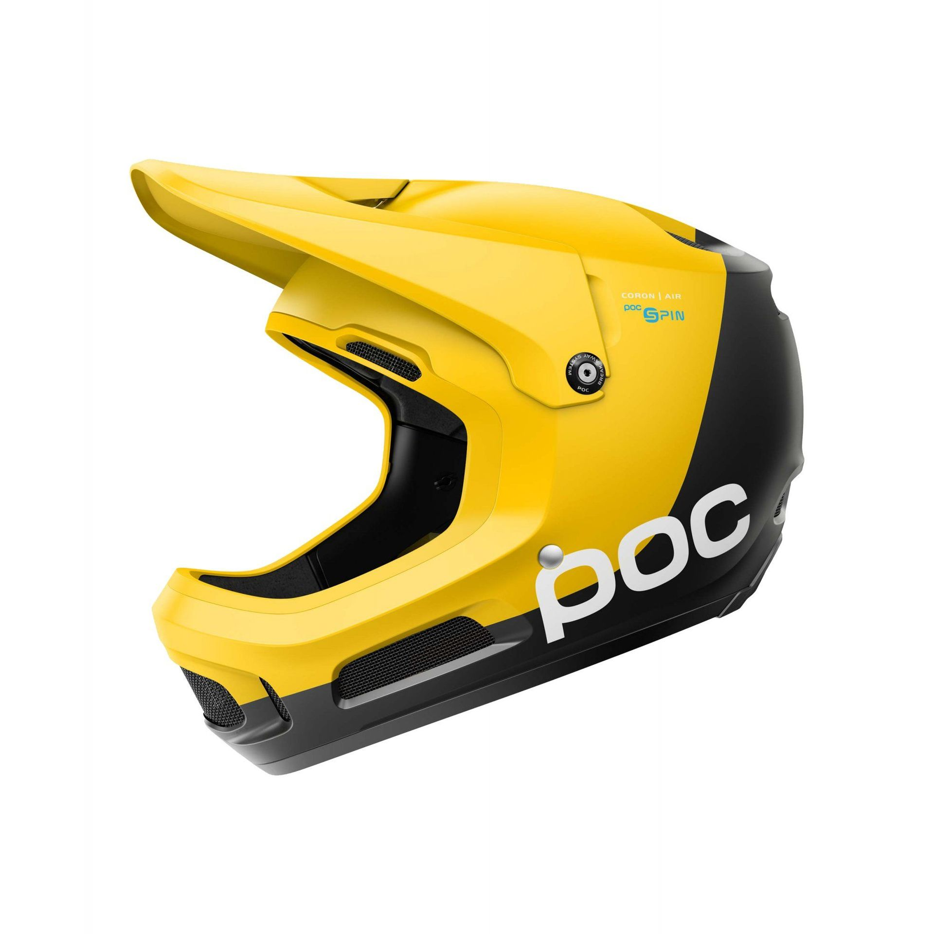 KASK ROWEROWY POC CORON AIR SPIN SULPHITE YELLOW 1