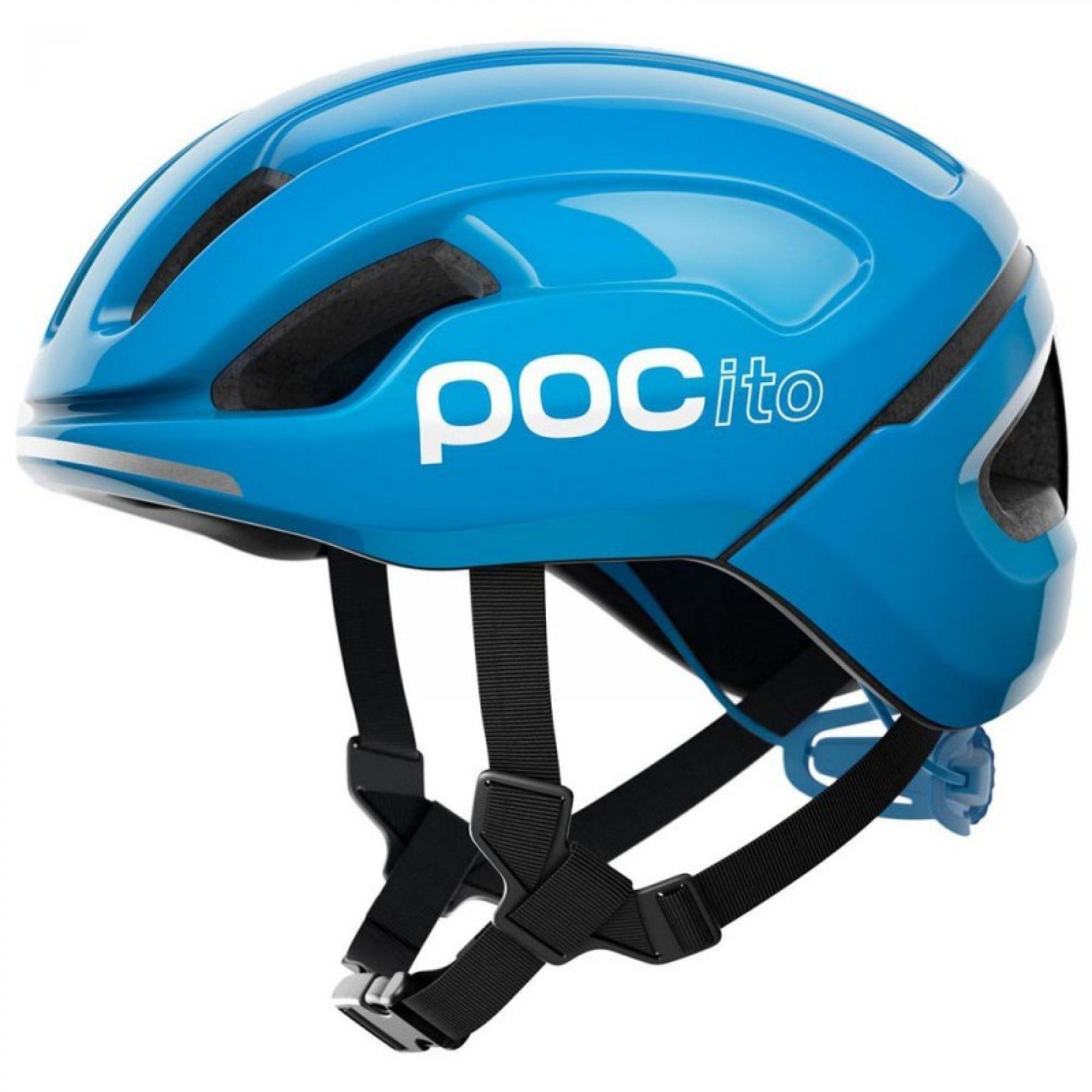 KASK ROWEROWY POC POCITO OMNE SPIN FLUORESCENT BLUE 1