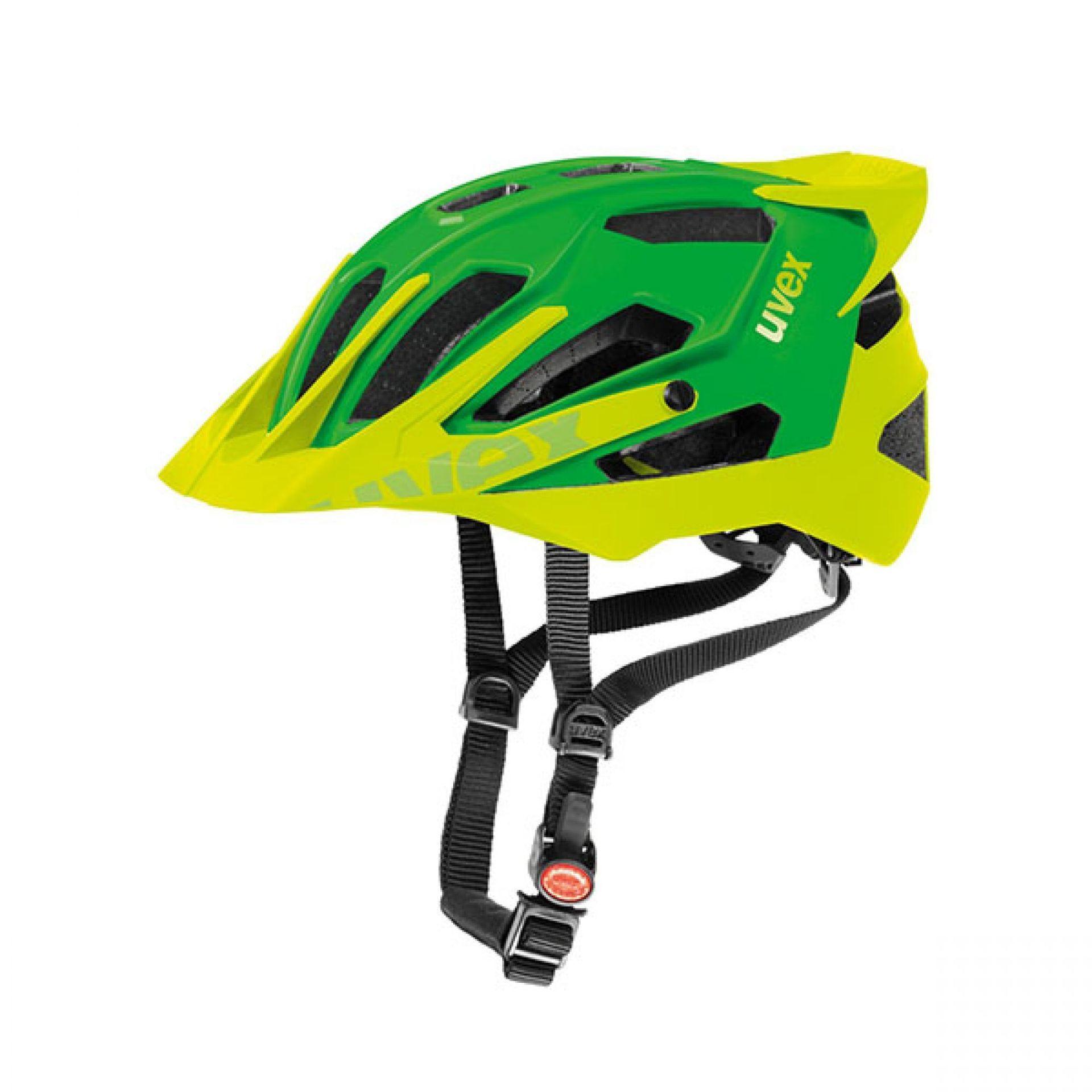 Kask rowerowy Quatro Pro zielono żółty