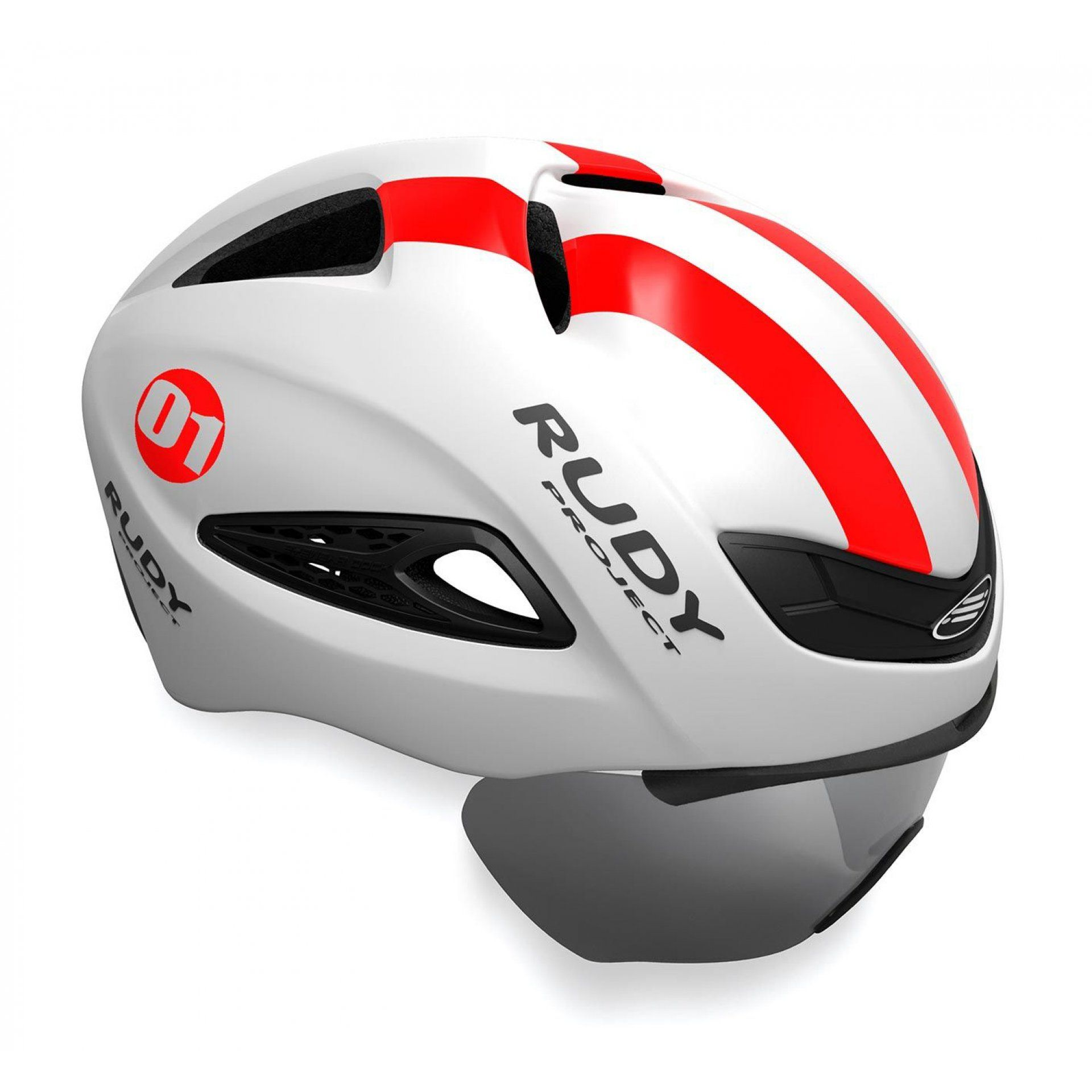 KASK ROWEROWY RUDY PROJECT BOOST 01 VISOR WHITE|RED
