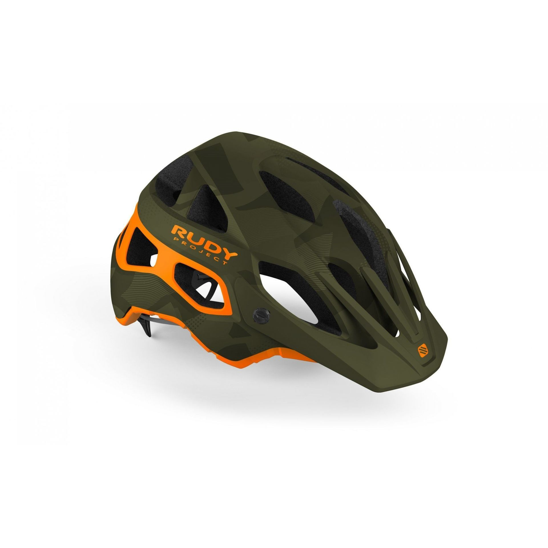 KASK ROWEROWY RUDY PROJECT PROTERA GREEN CAMO|ORANGE MATTE HL610091