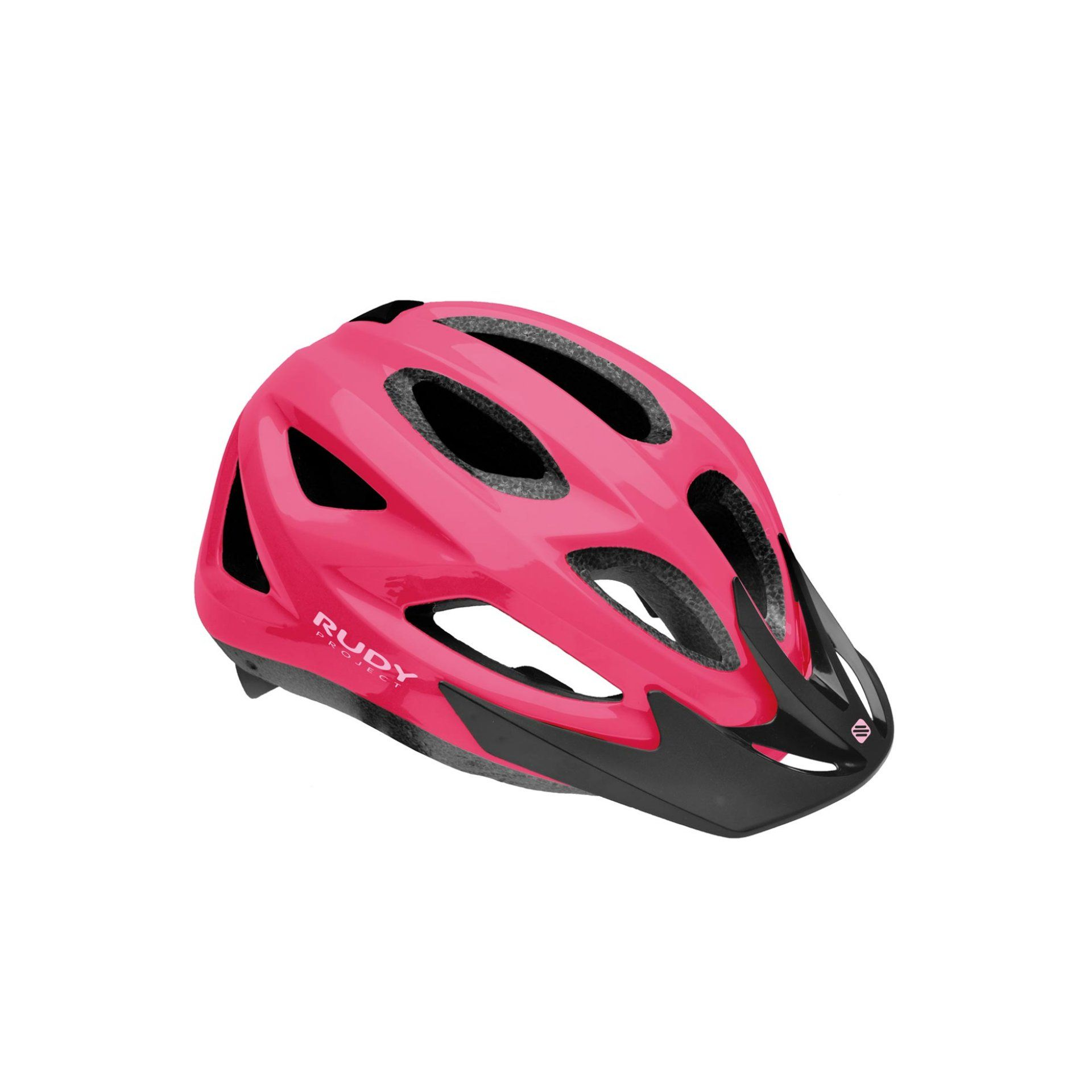 KASK ROWEROWY RUDY PROJECT ROCKY VISOR PINK SHINY
