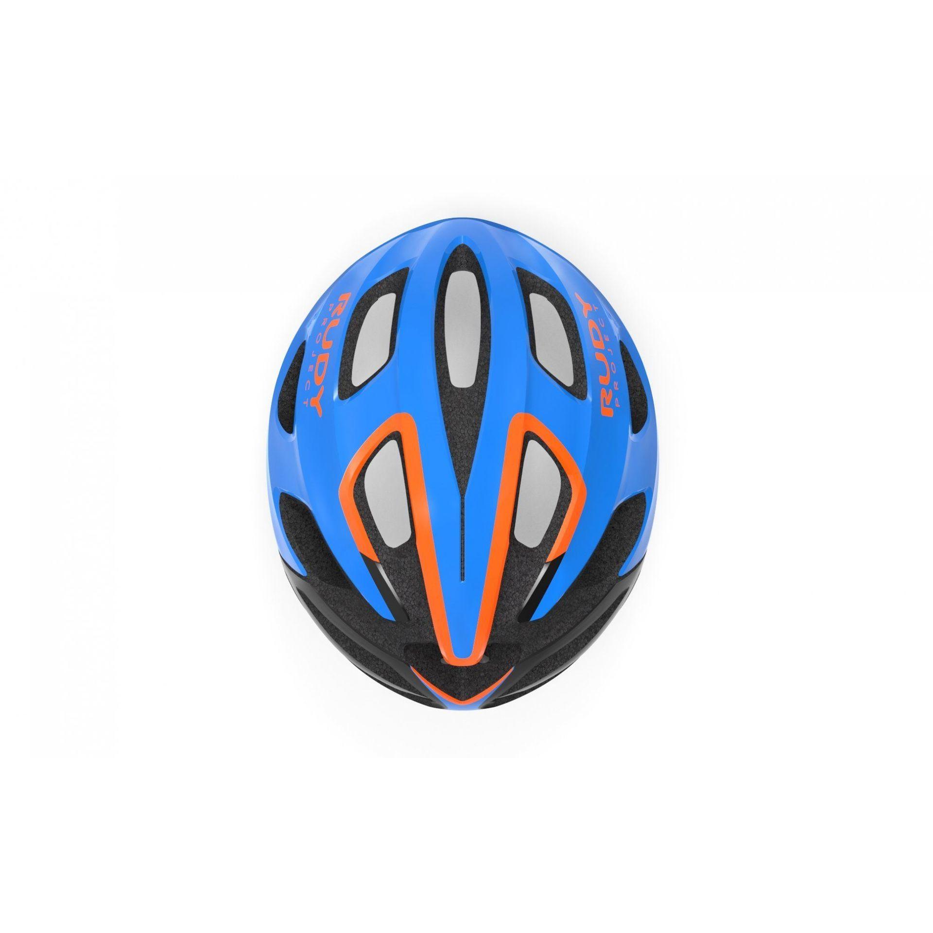 KASK ROWEROWY RUDY PROJECT STRYM BLUE|ORANGE HL64006 5