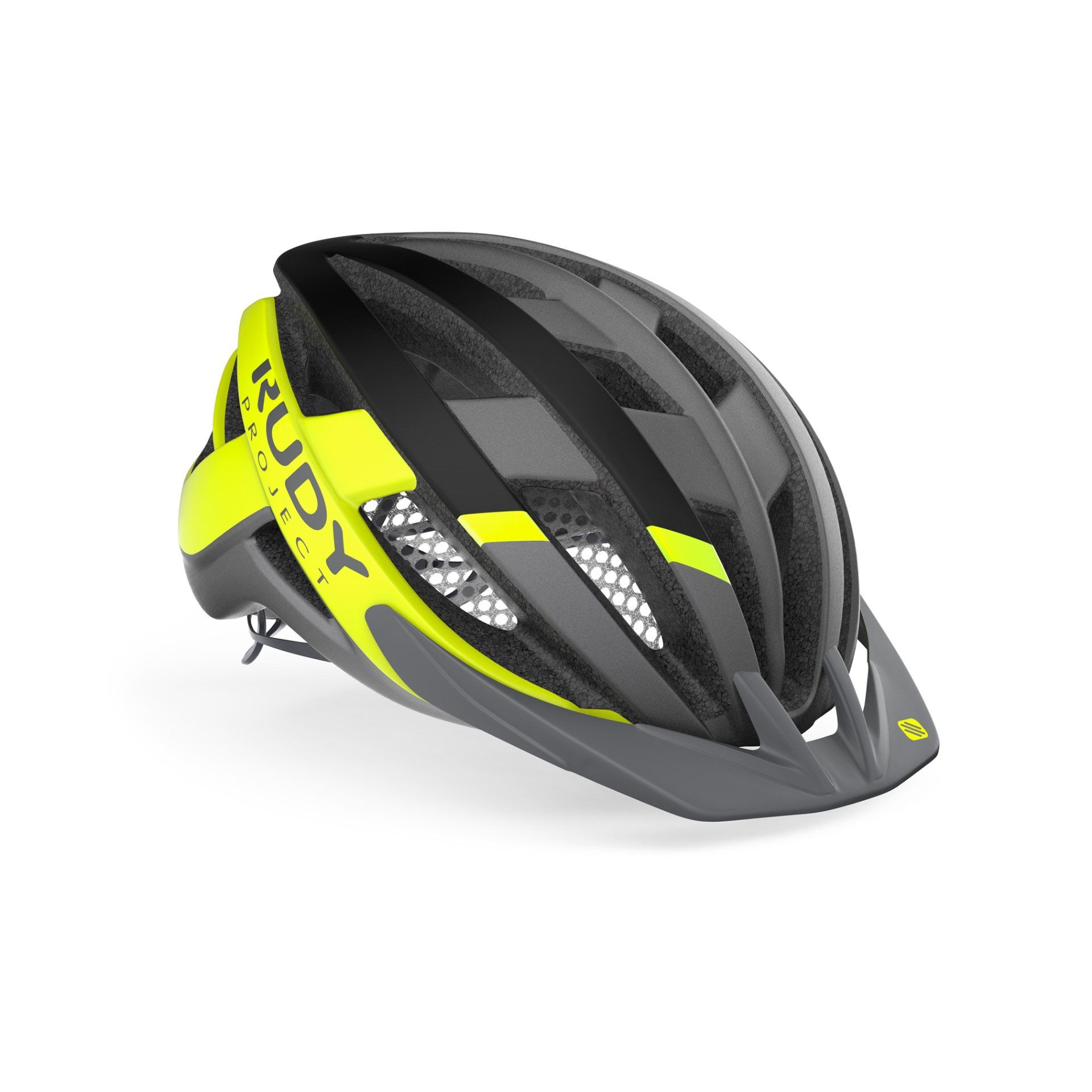 KASK ROWEROWY RUDY PROJECT VENGER CROSS TITANIUM|YELLOW FLUO HL660010