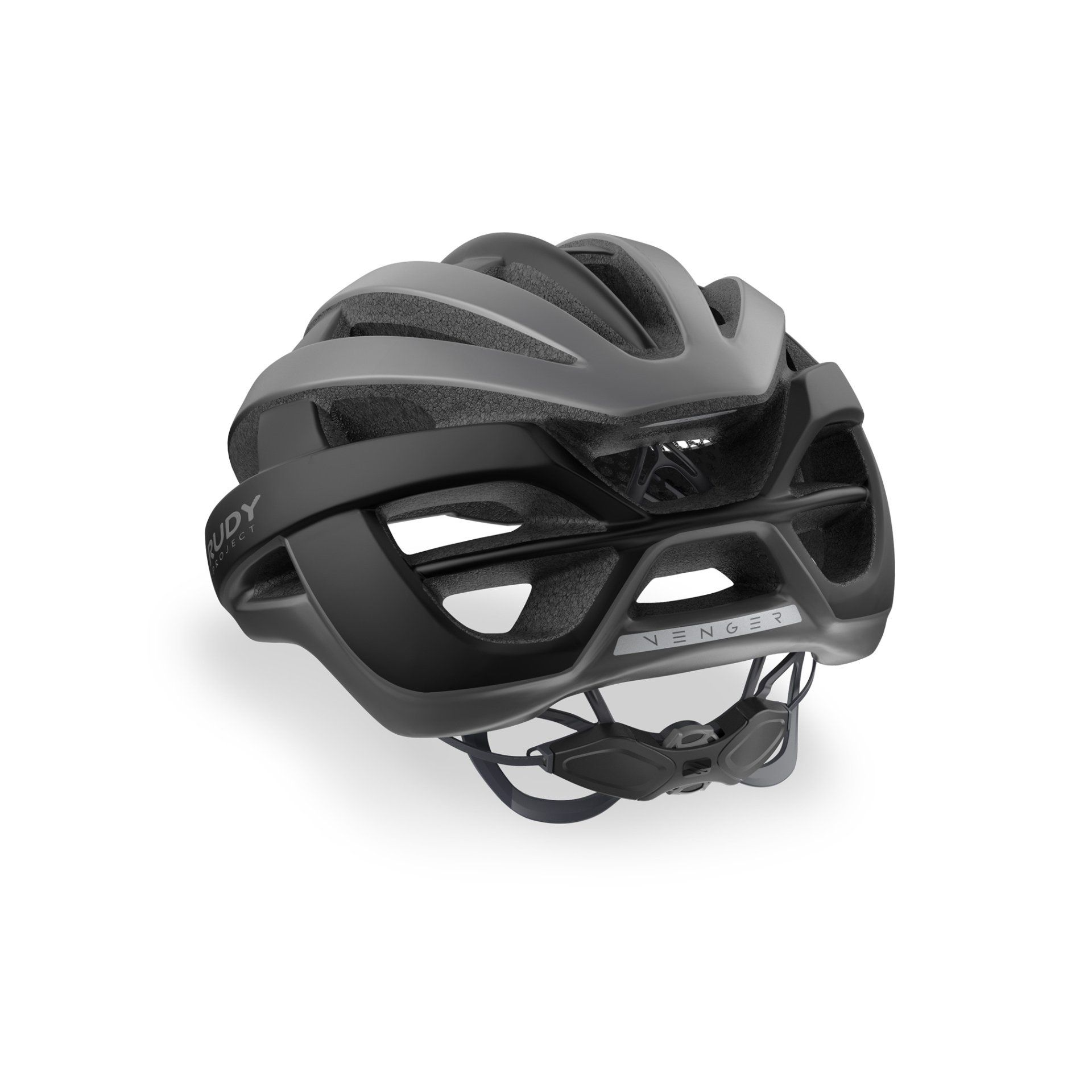 KASK ROWEROWY RUDY PROJECT VENGER TITANIUM BLACK HL660110 TYŁ