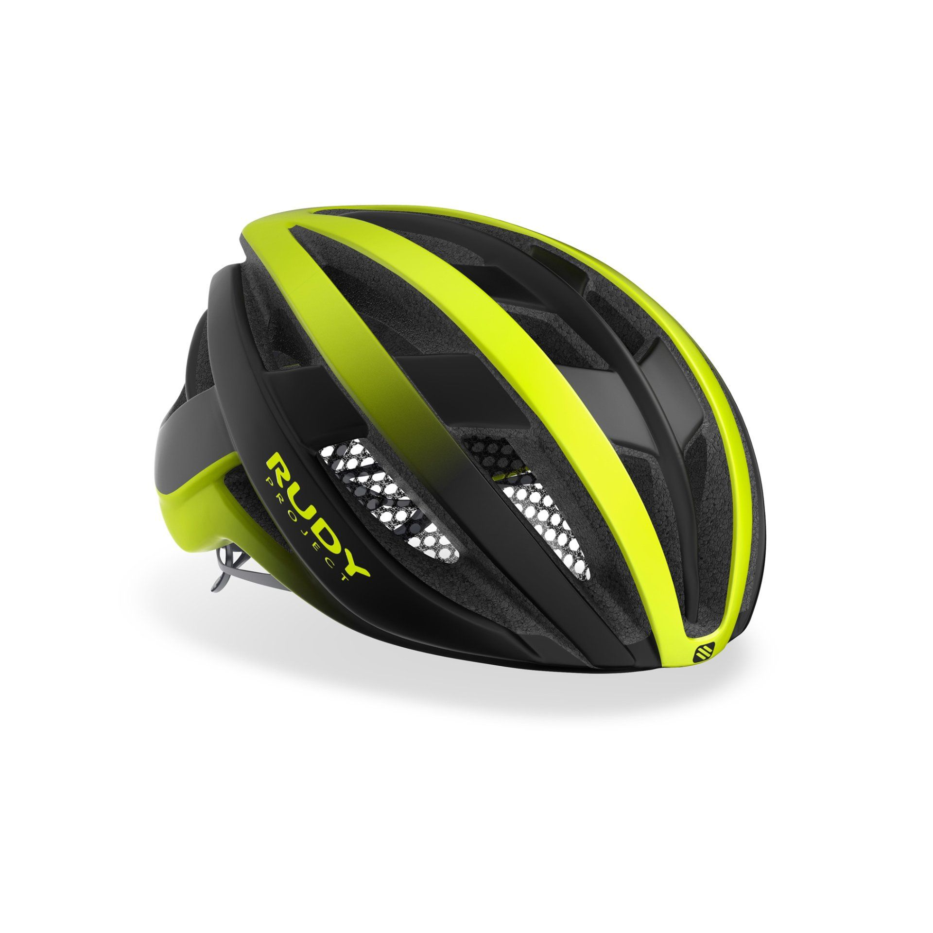 KASK ROWEROWY RUDY PROJECT VENGER YELLOW FLUO BLACK HL660120