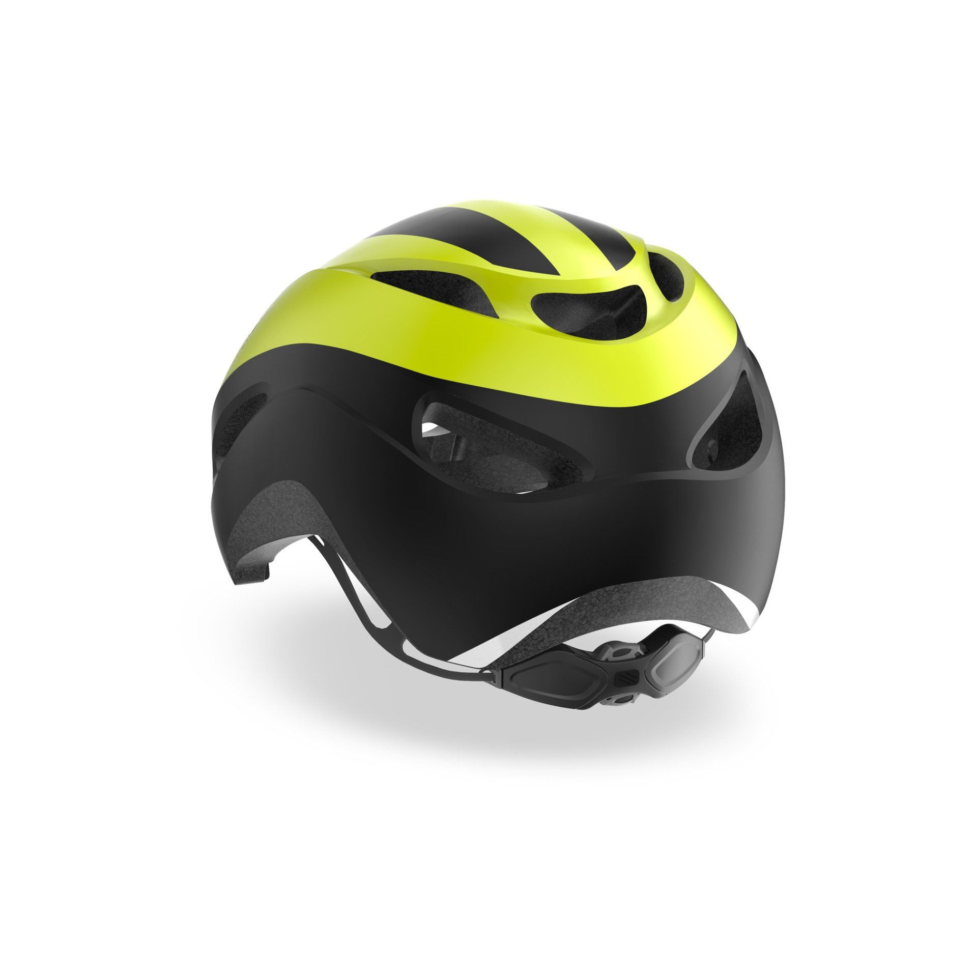 KASK ROWEROWY RUDY PROJECT VOLANTIS YELLOW FLUO|BLACK HL750031 TYŁ