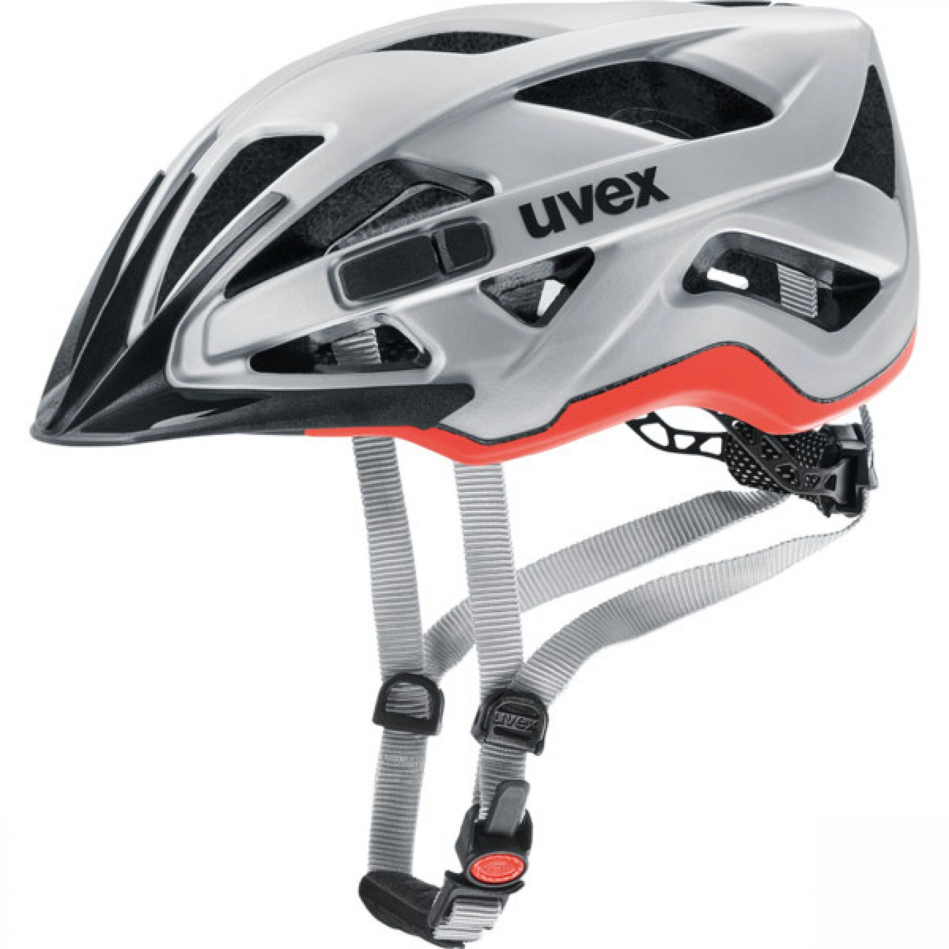 KASK ROWEROWY UVEX ACTIVE CC 427 03 SILVER ORANGE MAT