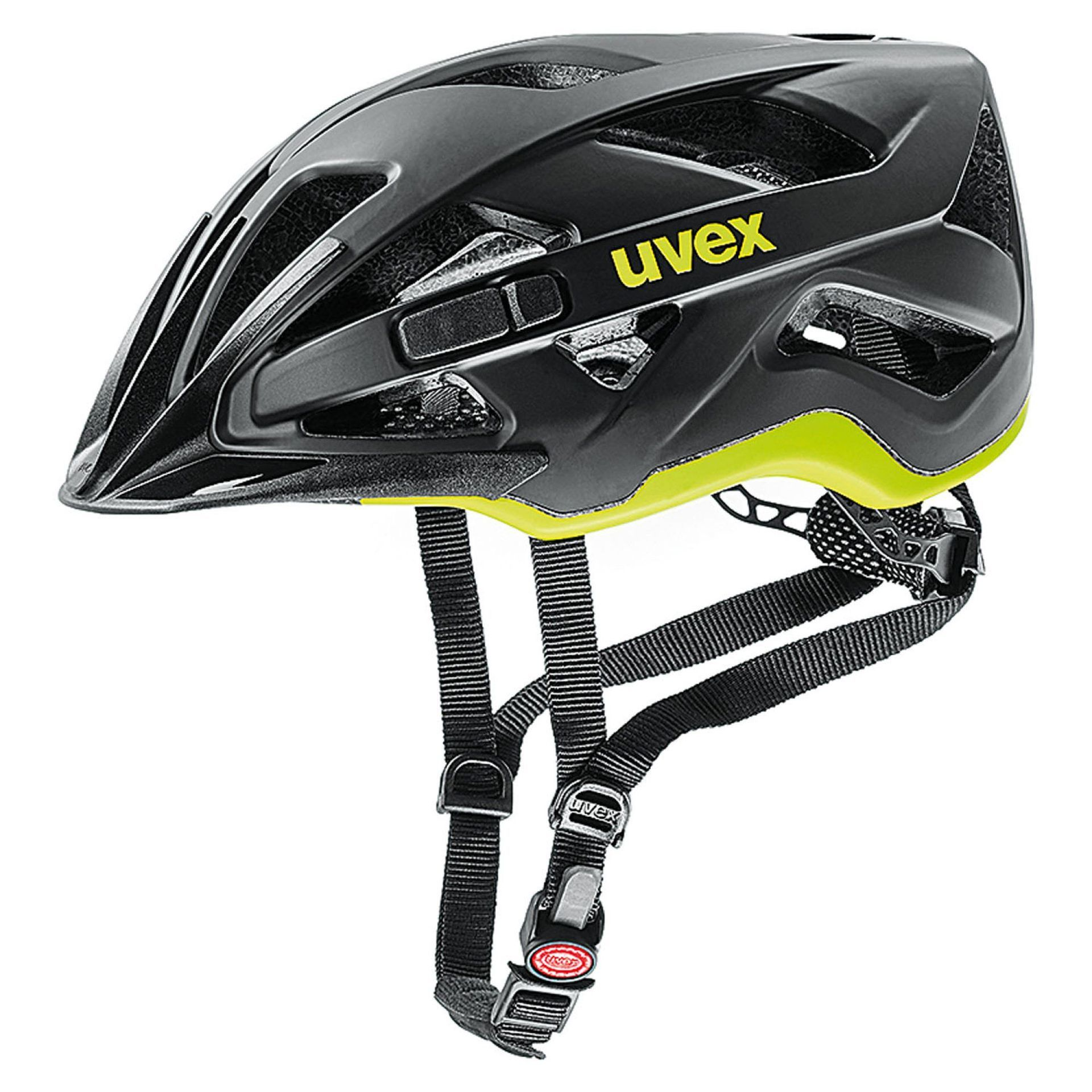 KASK ROWEROWY UVEX ACTIVE CC BLACK YELLOW MAT