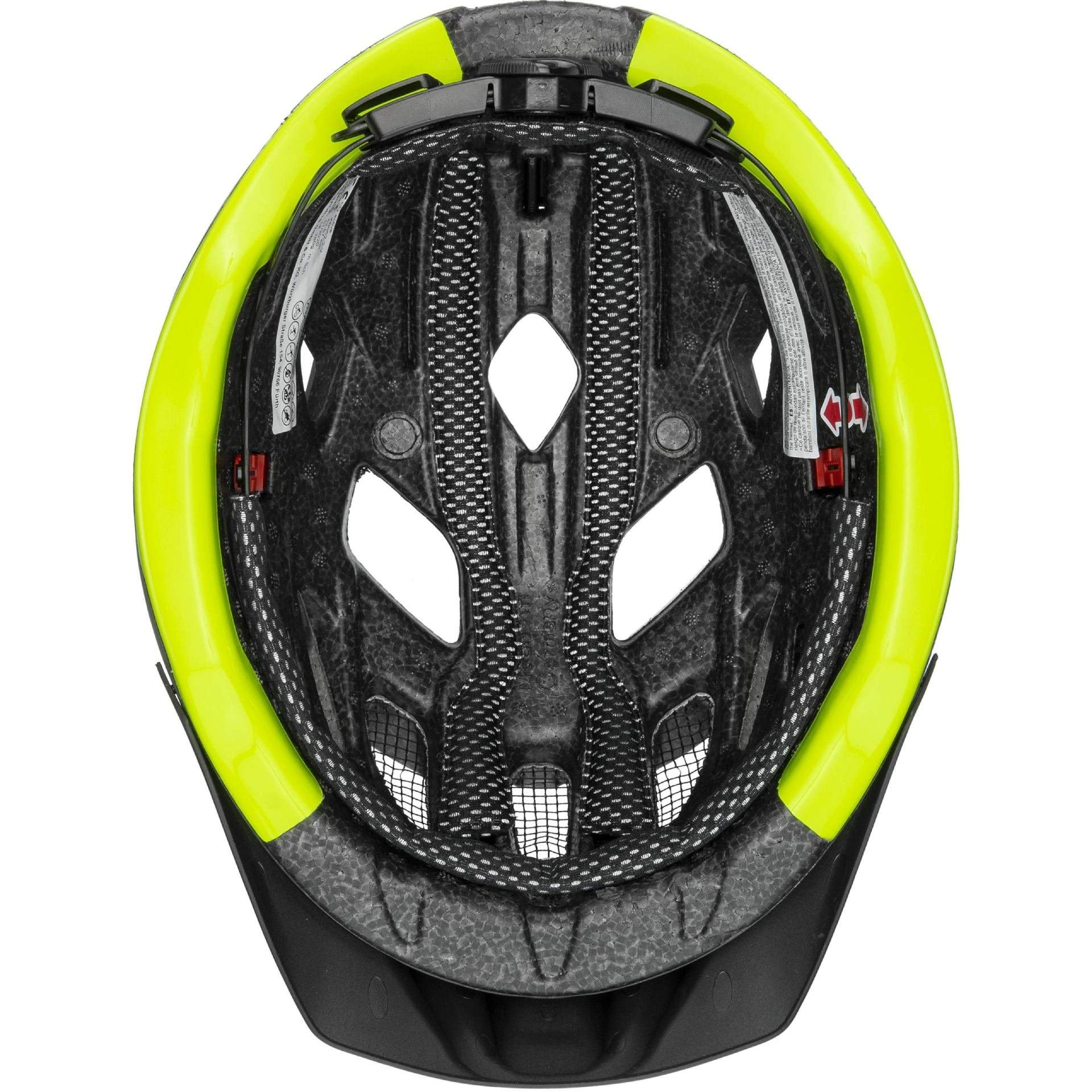 KASK ROWEROWY UVEX CITY ACTIVE 41|0|428|08 ANTHRAZIT|LIME MAT W ŚRODKU