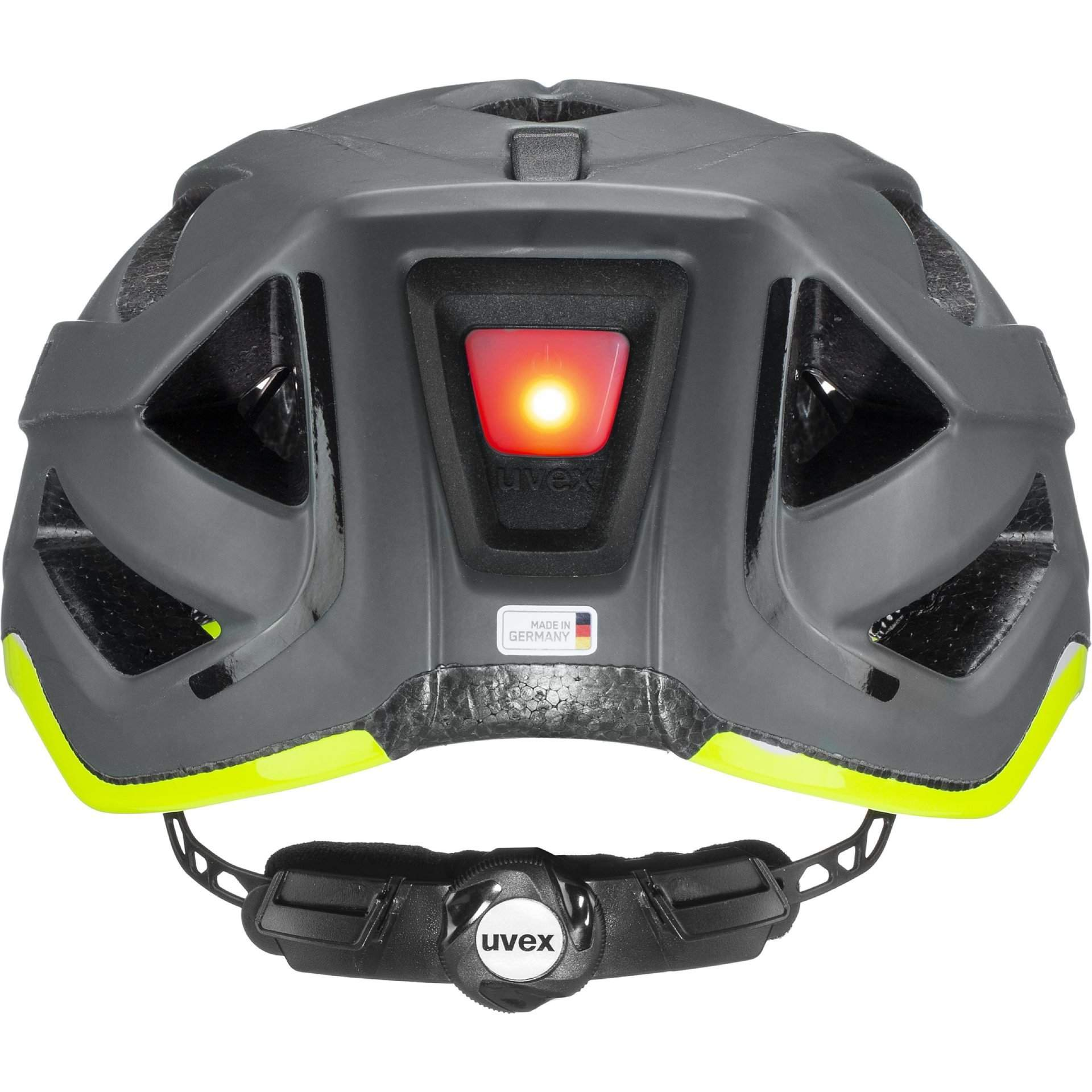 KASK ROWEROWY UVEX CITY ACTIVE 41|0|428|08 ANTHRAZIT|LIME MAT Z LAMPKĄ