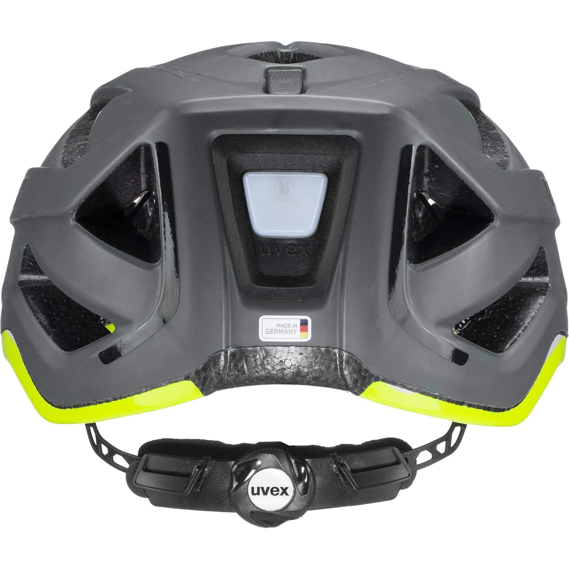 KASK ROWEROWY UVEX CITY ACTIVE 41|0|428|08 ANTHRAZIT|LIME MAT Z TYŁU