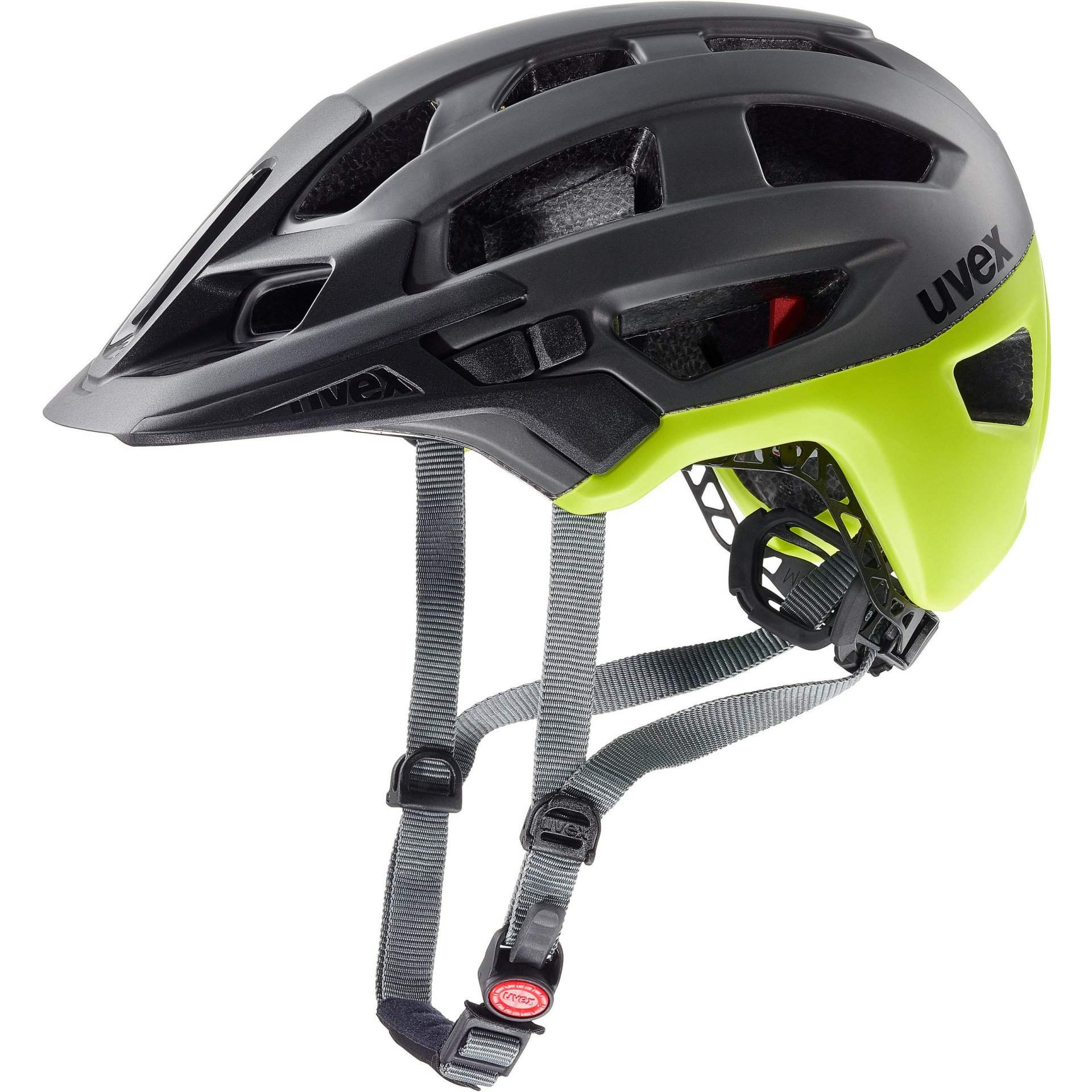 KASK ROWEROWY UVEX FINALE 2.0  GREY YELLOW MAT
