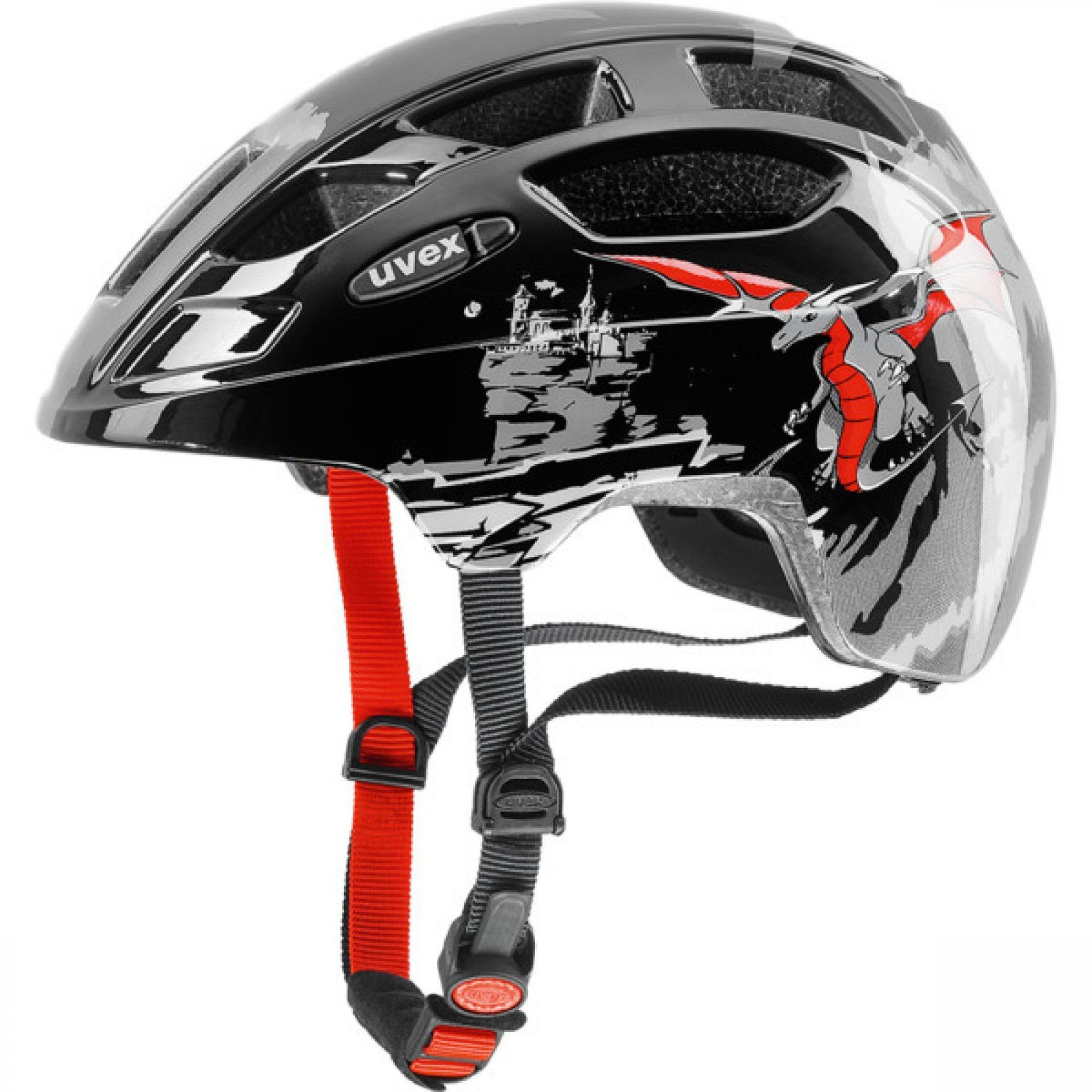 KASK ROWEROWY UVEX FINALE JUNIOR 807|05 DRAGON RED BLACK